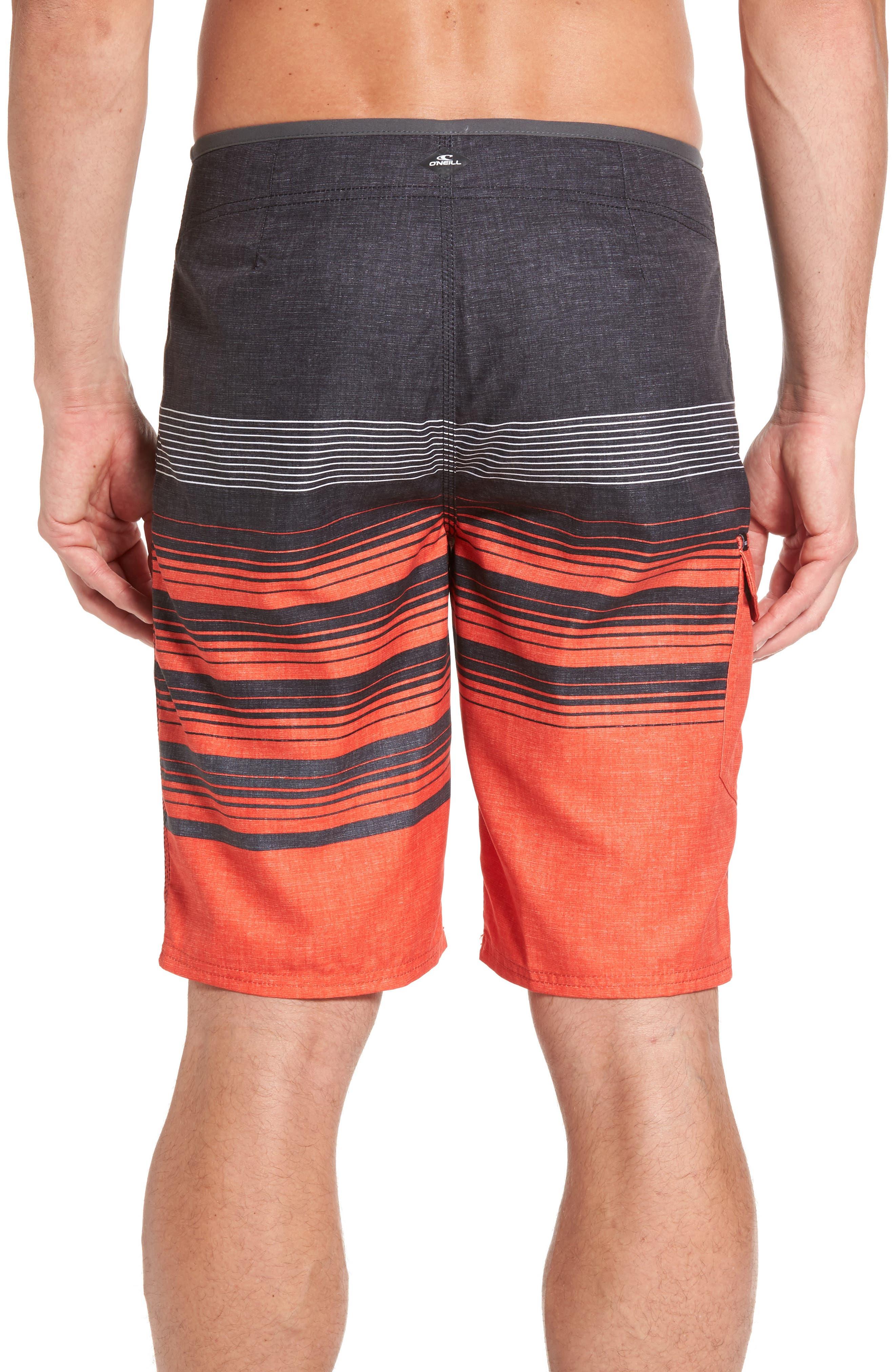 Lennox Board Shorts,                             Alternate thumbnail 2, color,                             Neon Red
