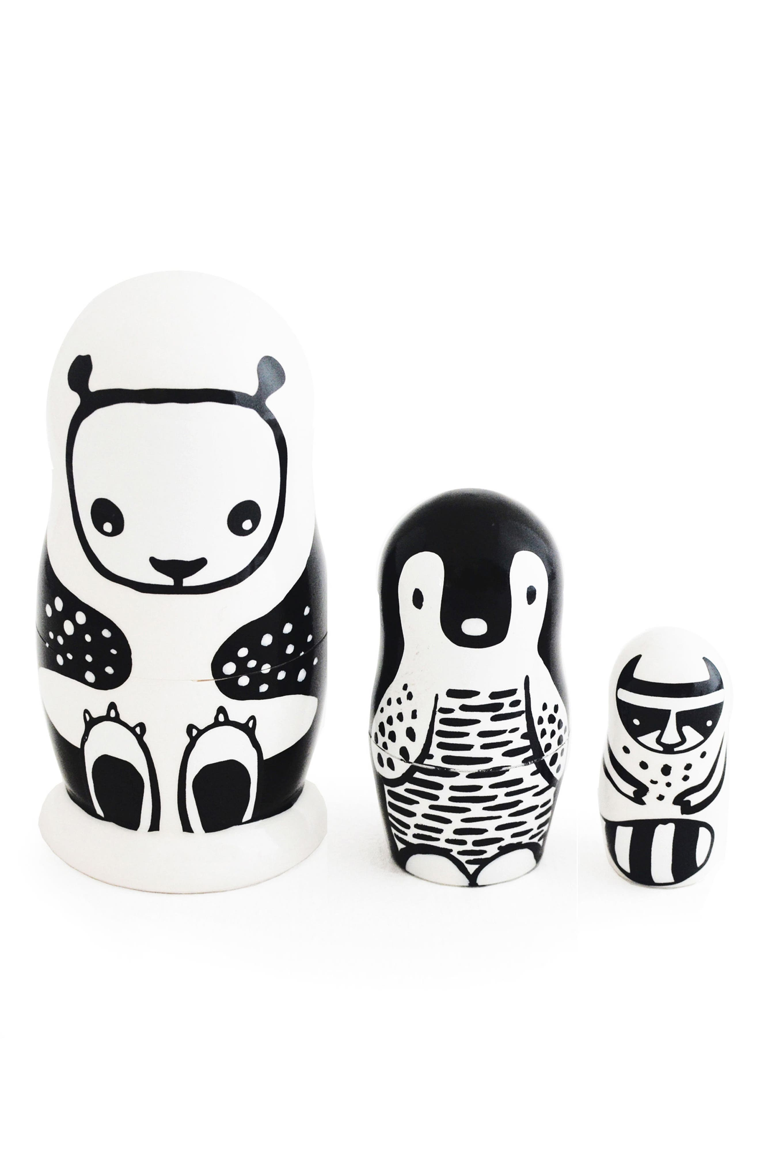 Wee Gallery Set of 3 Animal Nesting Dolls