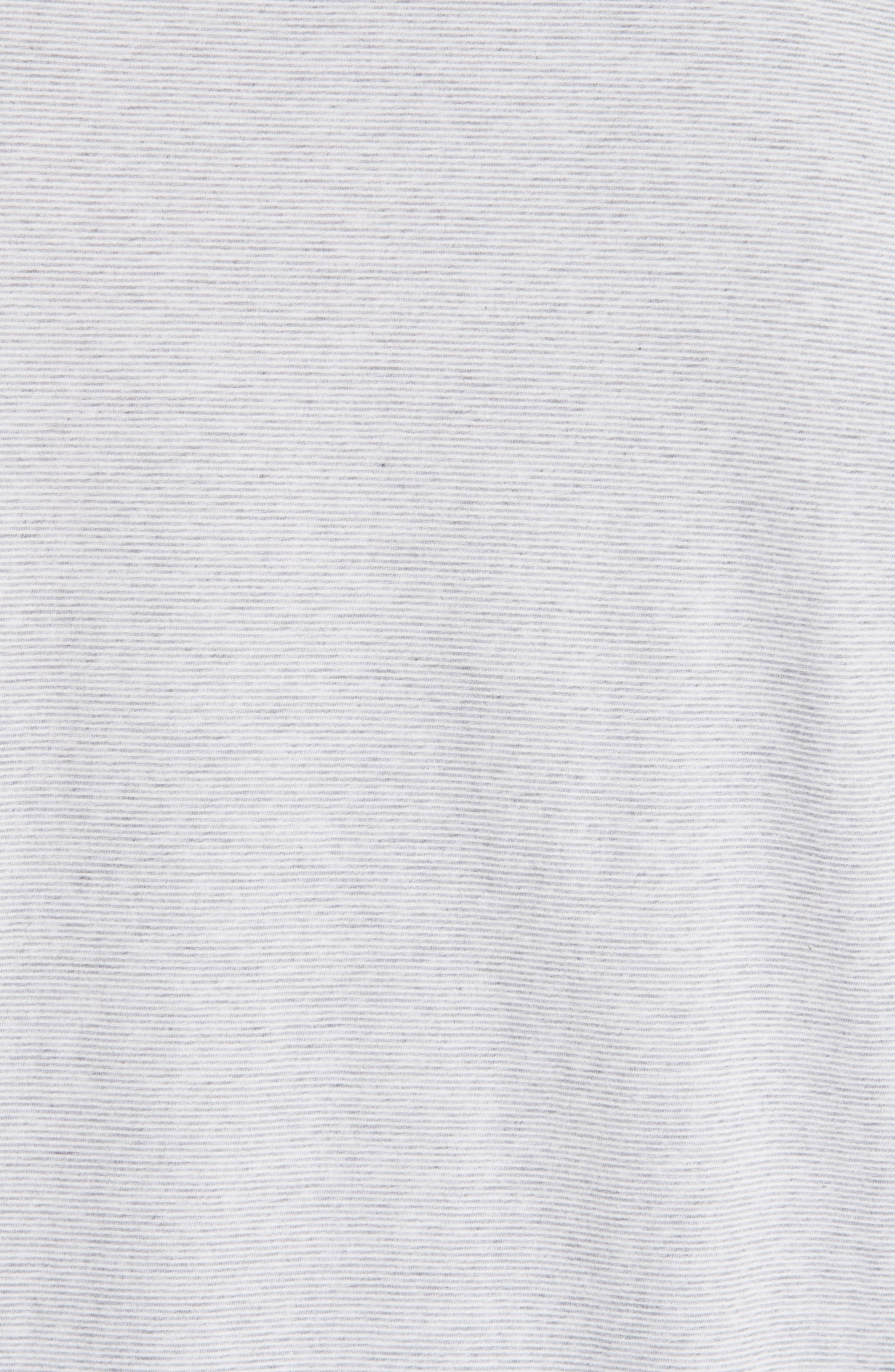 Stripe Polo,                             Alternate thumbnail 5, color,                             Grey/ White