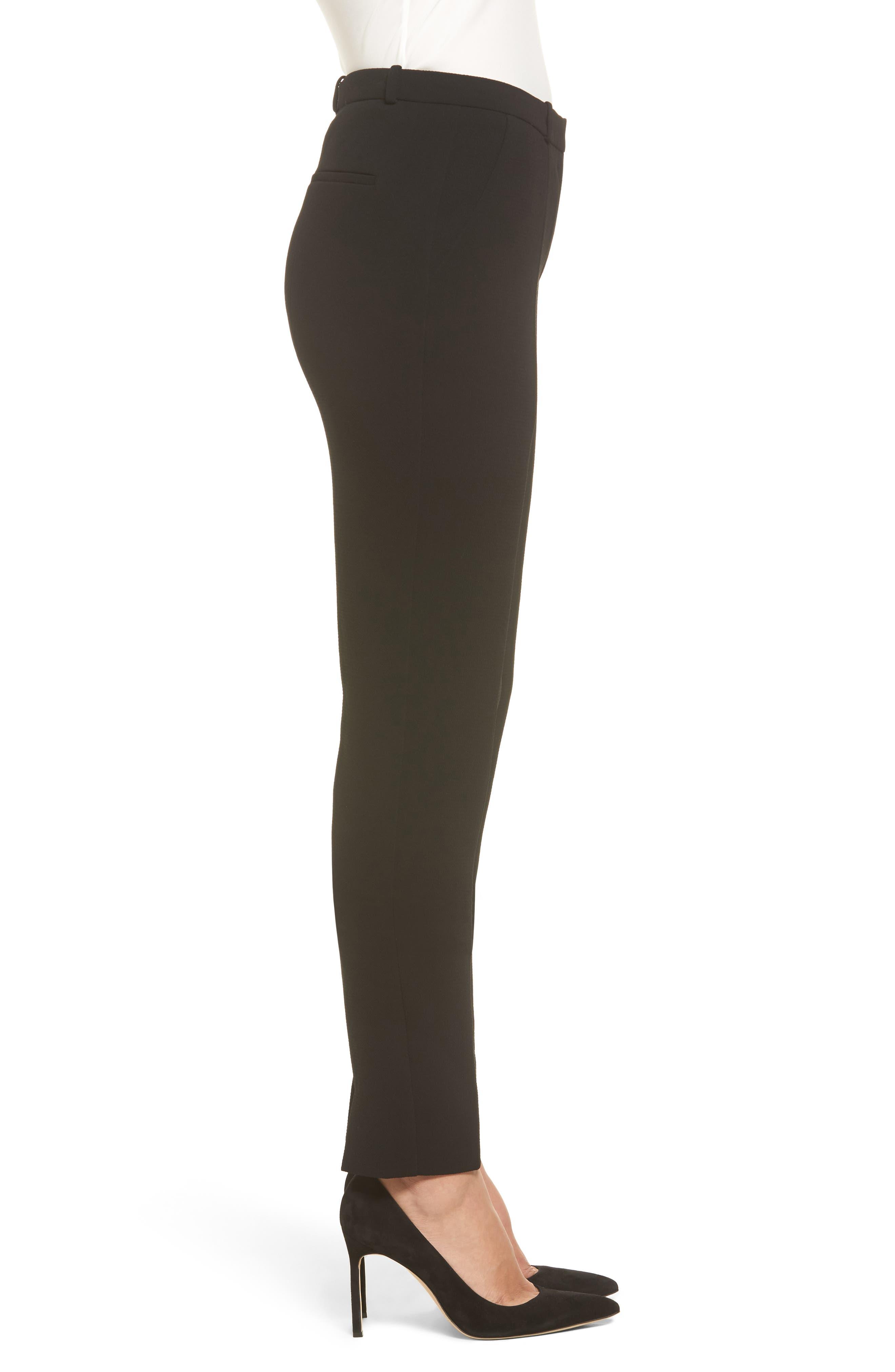 Atestelito Slim Crepe Suit Pants,                             Alternate thumbnail 3, color,                             Black
