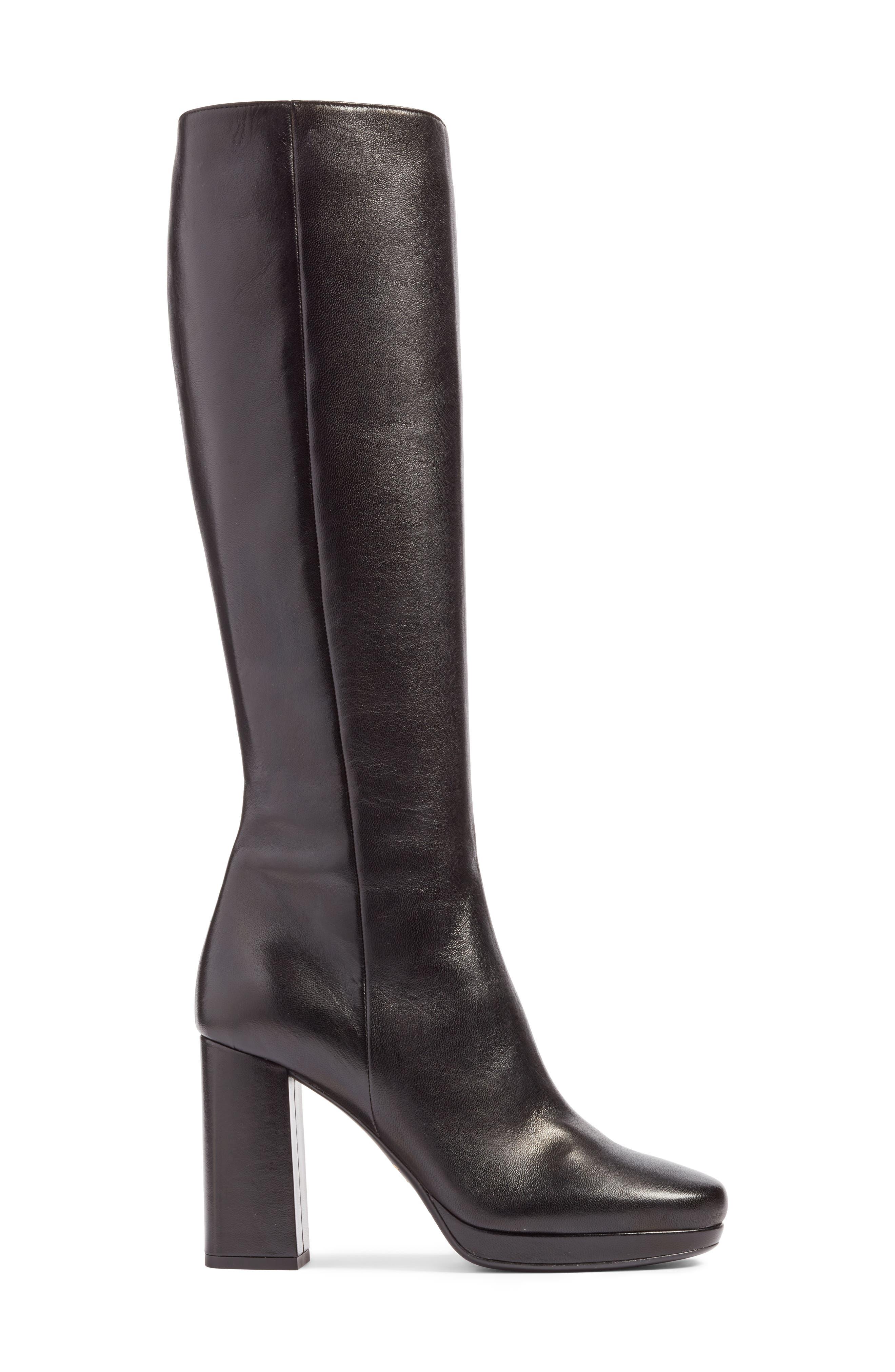 Alternate Image 3  - Prada Block Heel Tall Boot (Women)