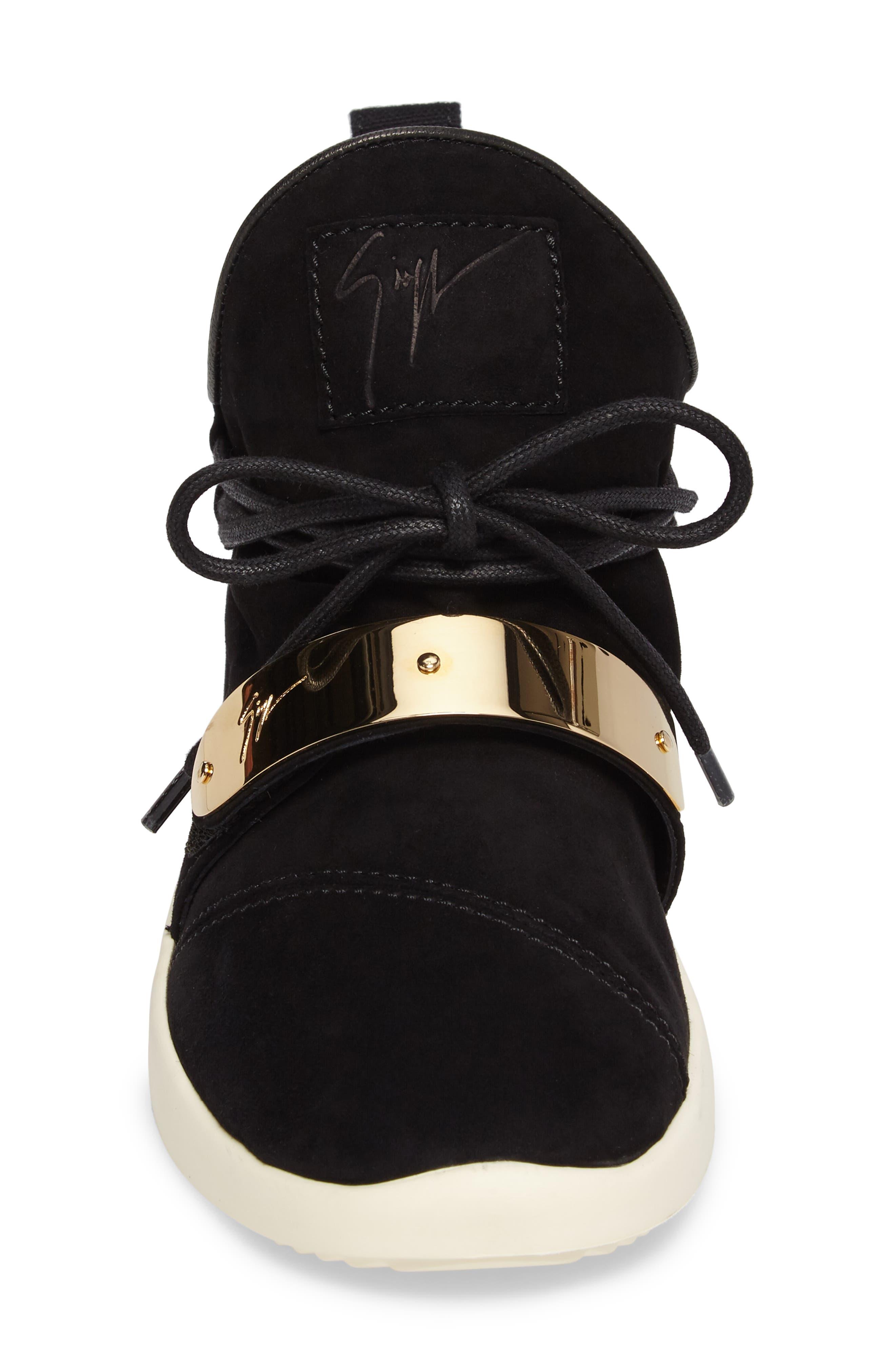Gold Band Sneaker,                             Alternate thumbnail 4, color,                             Black