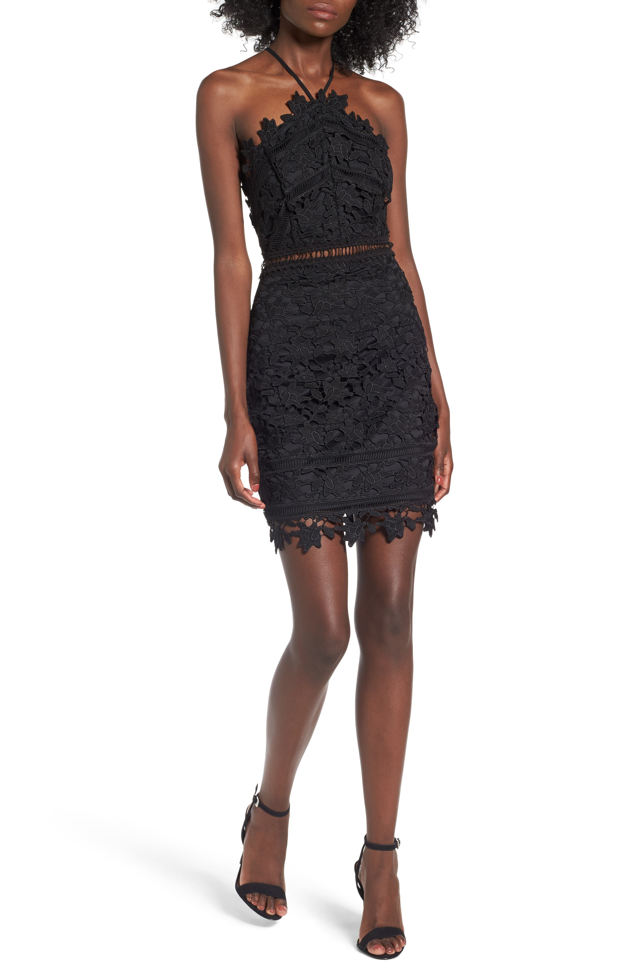 Main Image - ASTR the Label Lace Body-Con Dress
