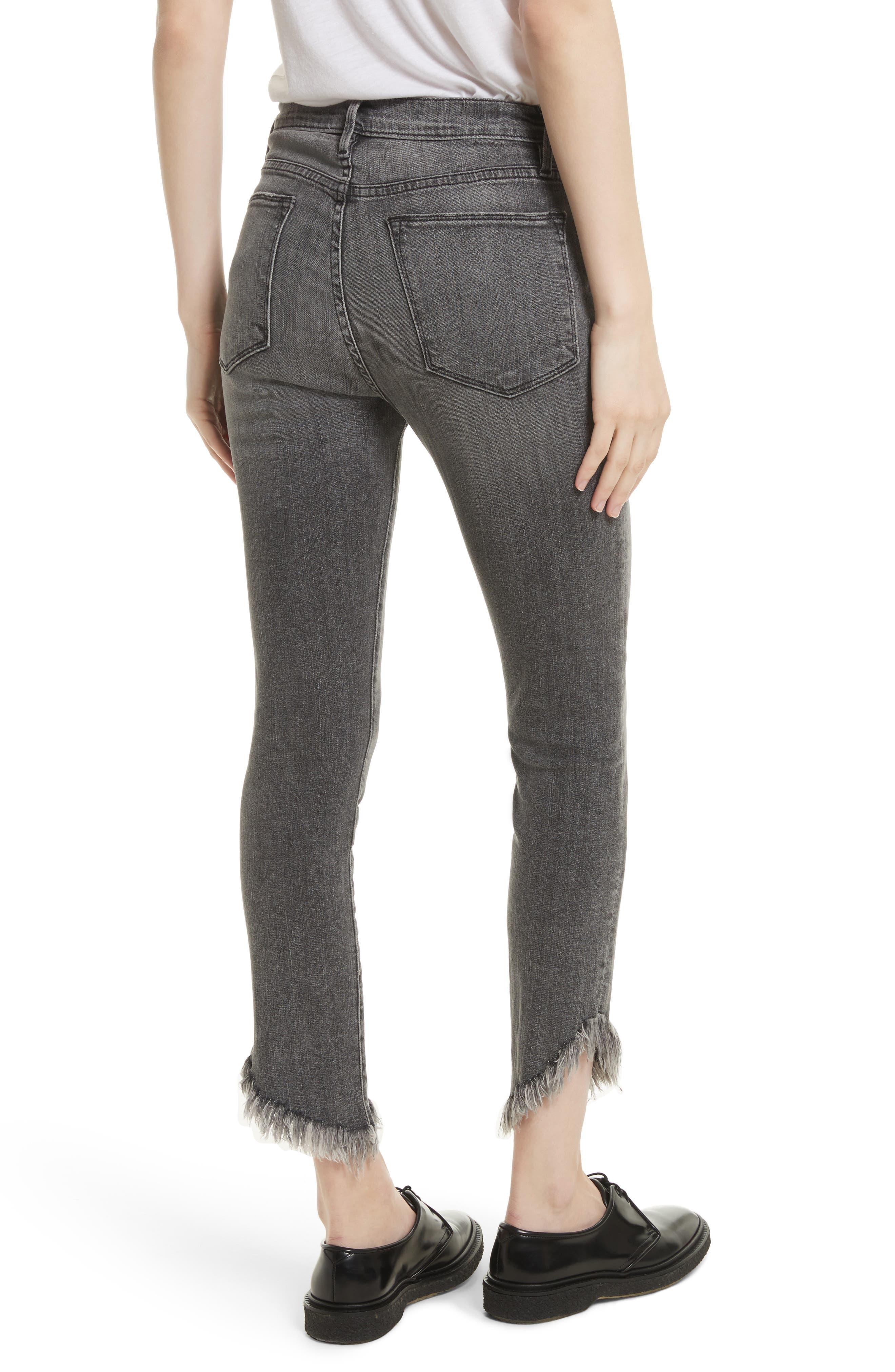 Le High Shredded Skinny Jeans,                             Alternate thumbnail 3, color,                             Berwick