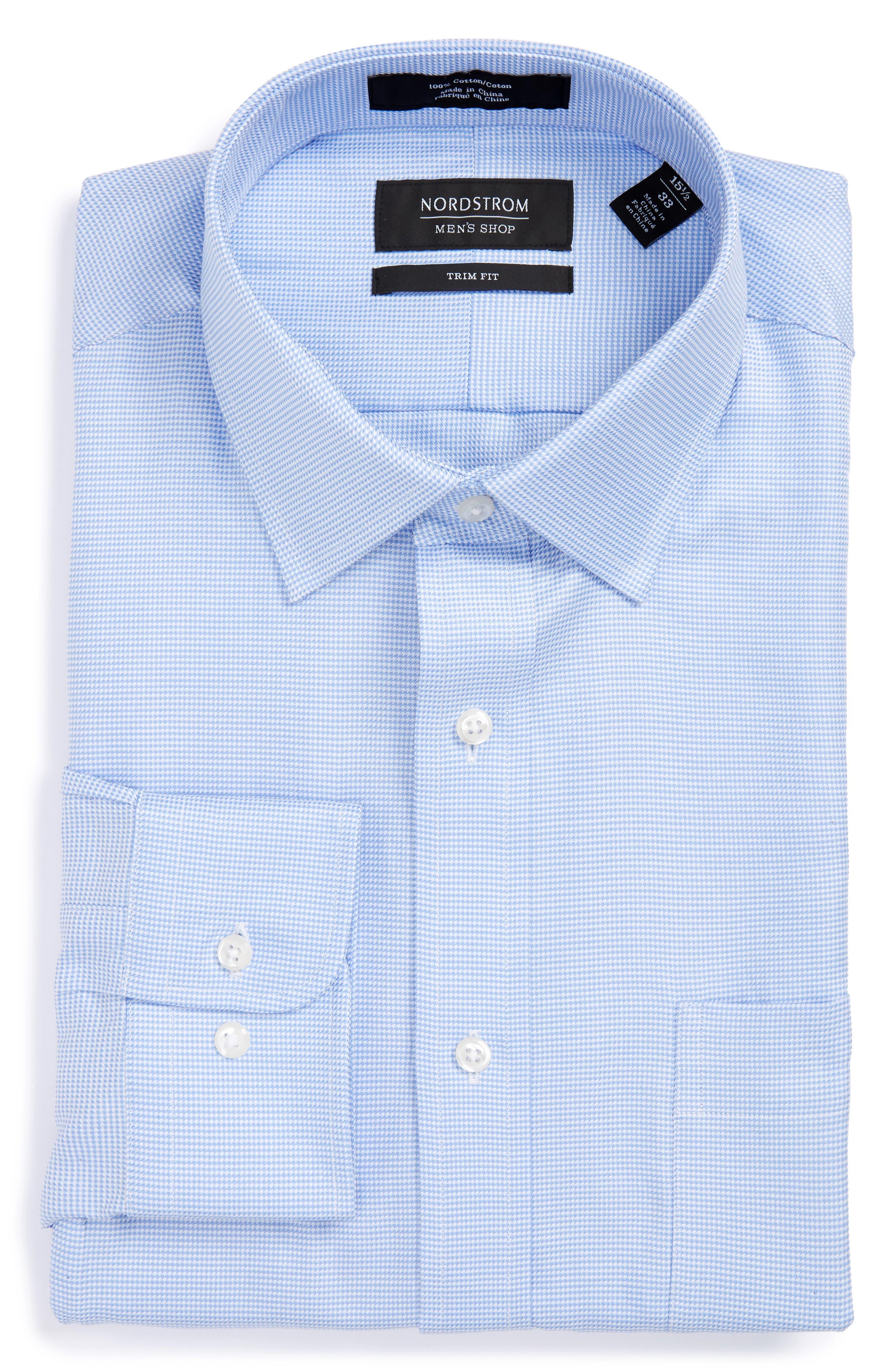 Nordstrom Men's Shop Trim Fit Textured Dress Shirt