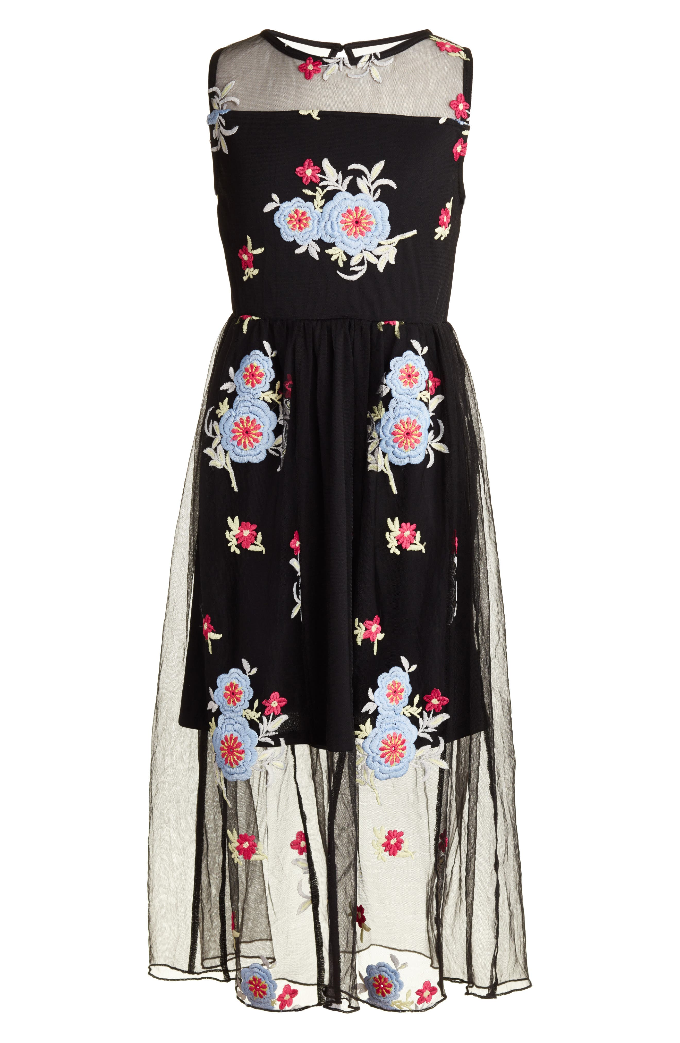 Trixxi Floral Embroidered Dress (Big Girls)