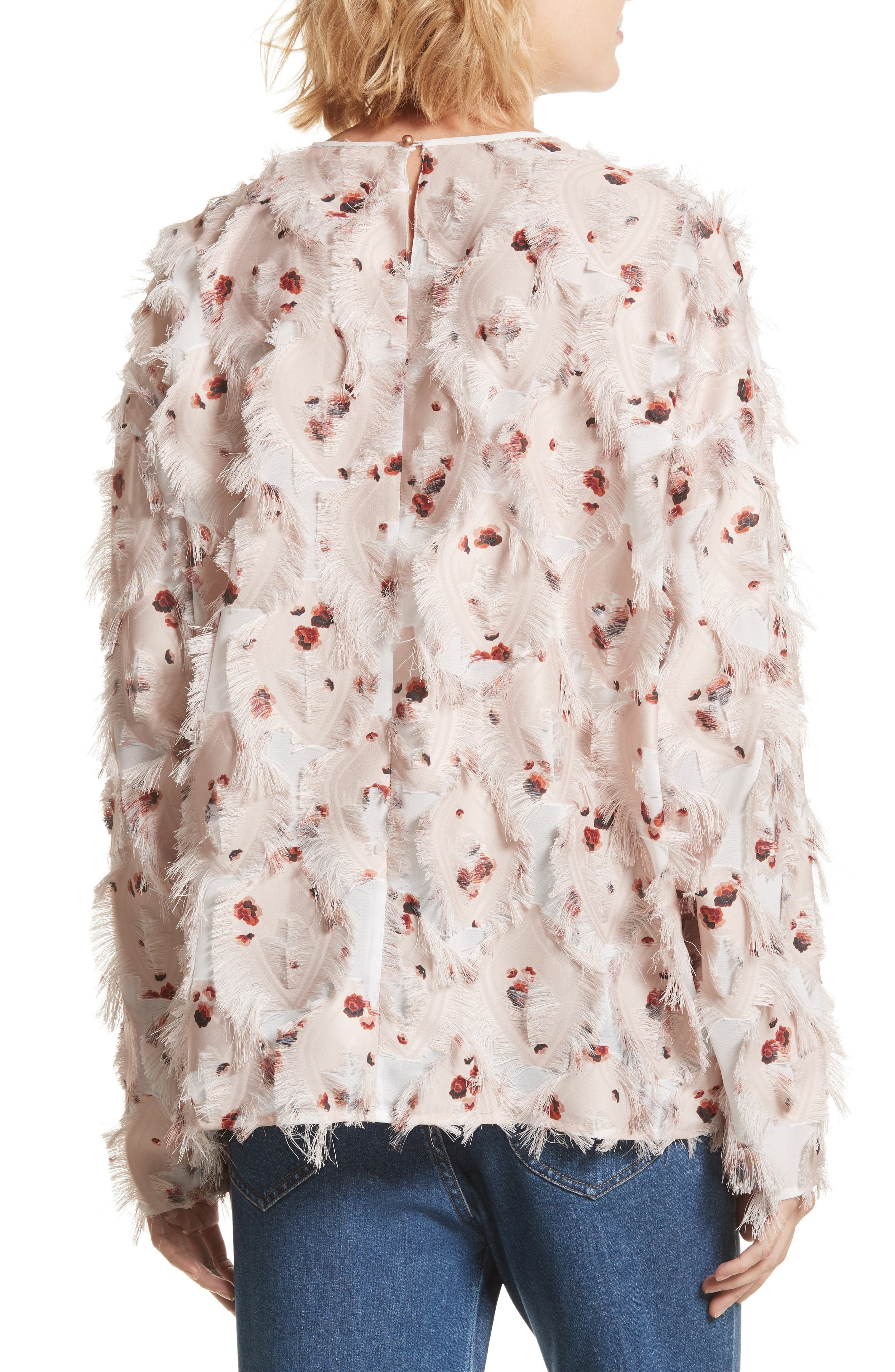 Alternate Image 3  - See by Chloé Feather Jacquard Blouse