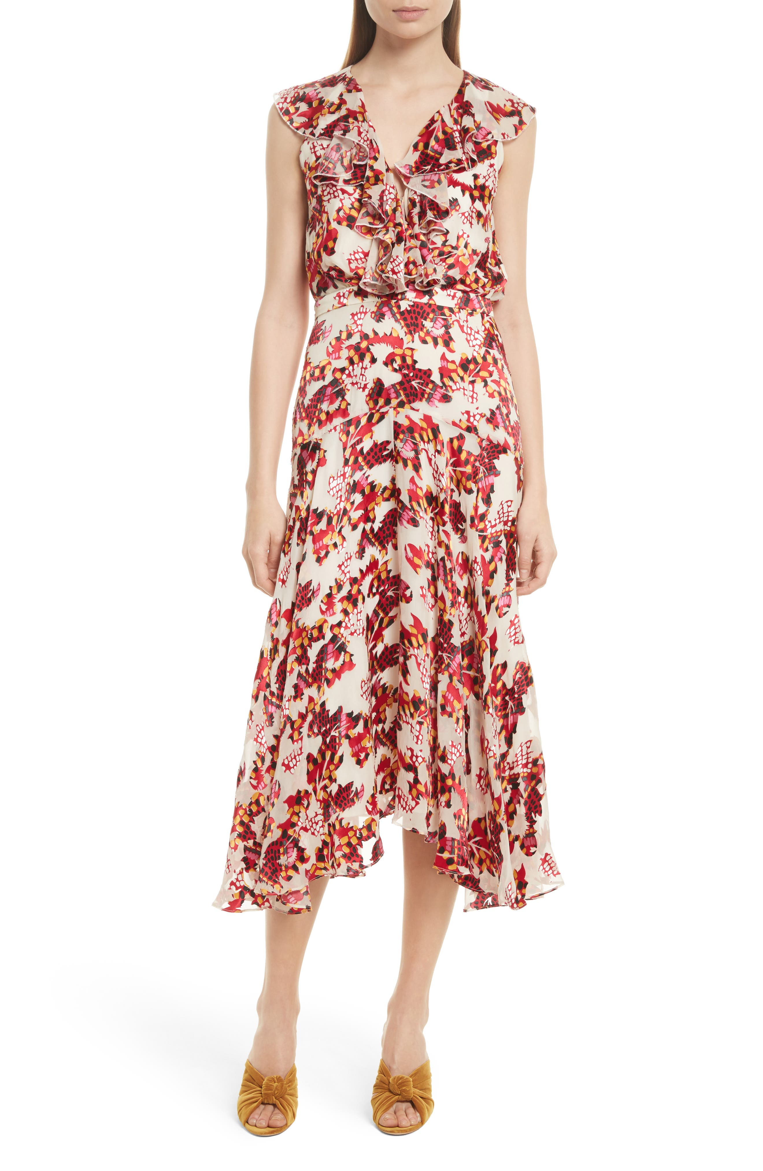 Alternate Image 1 Selected - SALONI Rita Ruffle Dress