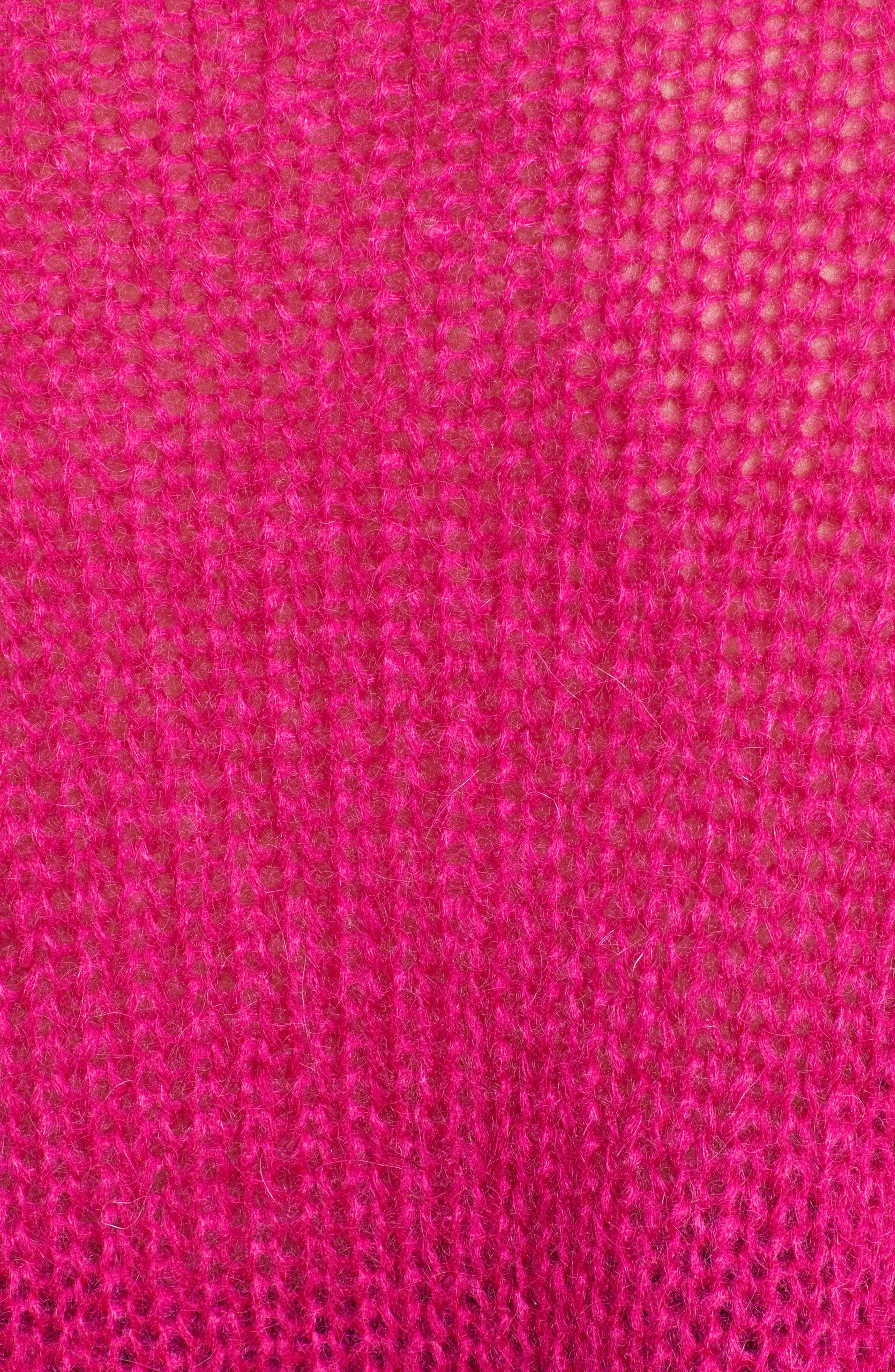 Alternate Image 5  - McQ by Alexander McQueen Mohair Blend Crop Sweater