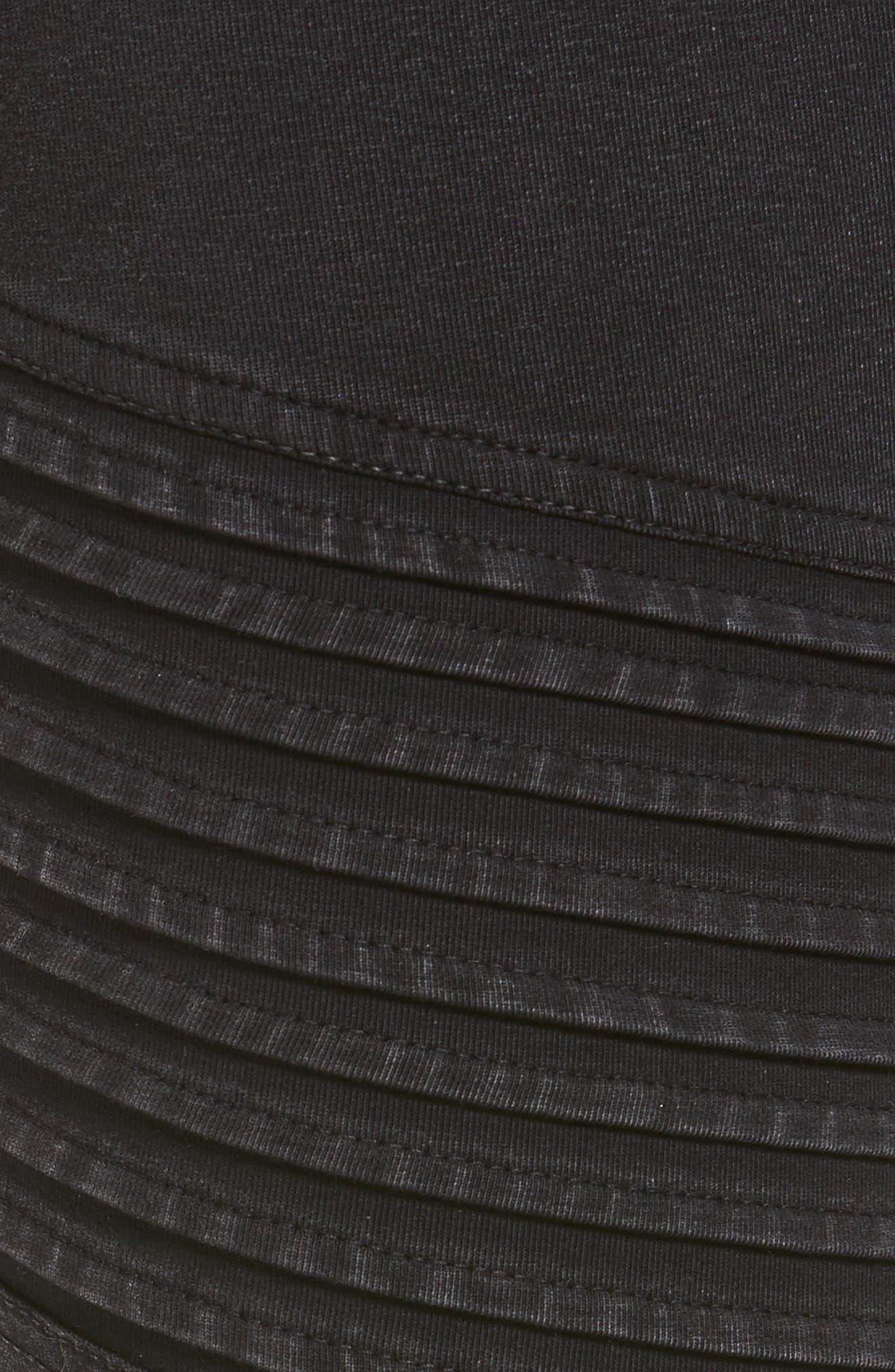 Moto Leggings,                             Alternate thumbnail 5, color,                             Black