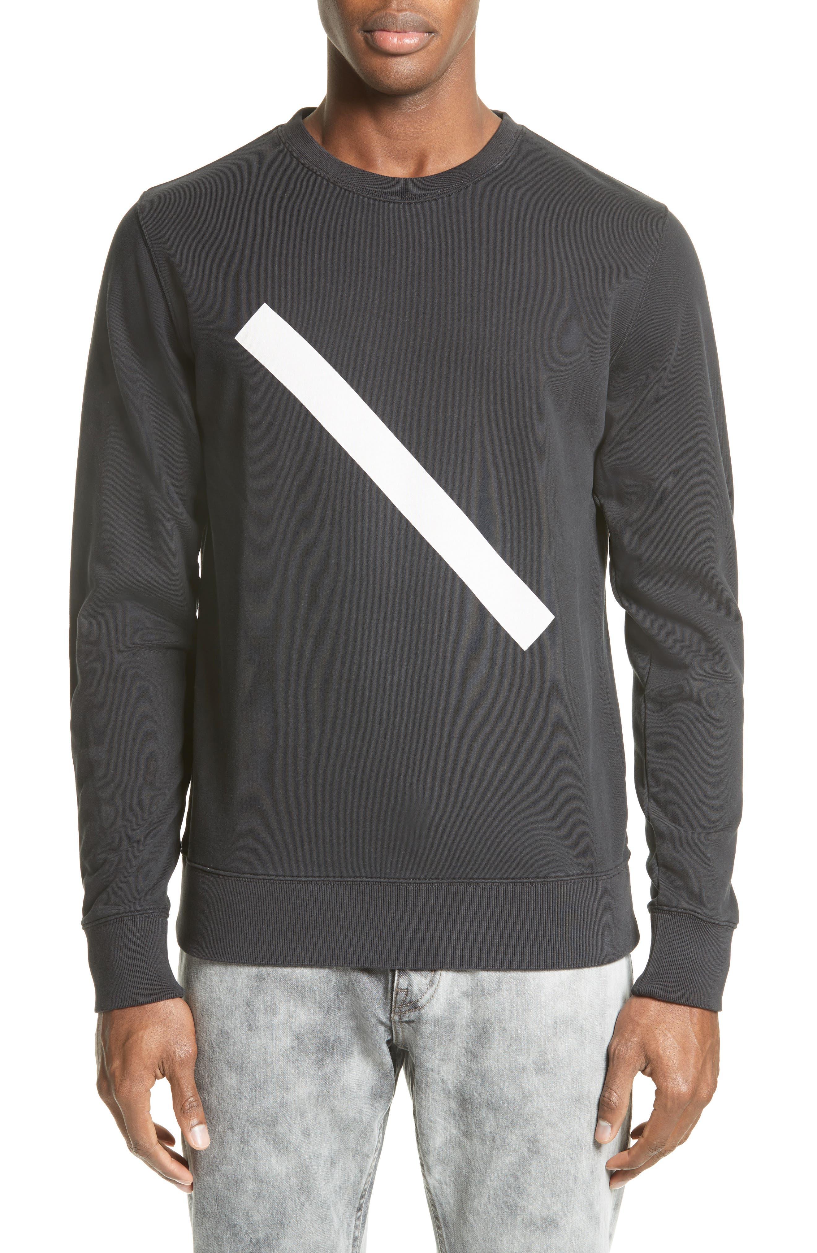 Main Image - Saturdays NYC Slash Crewneck Sweatshirt