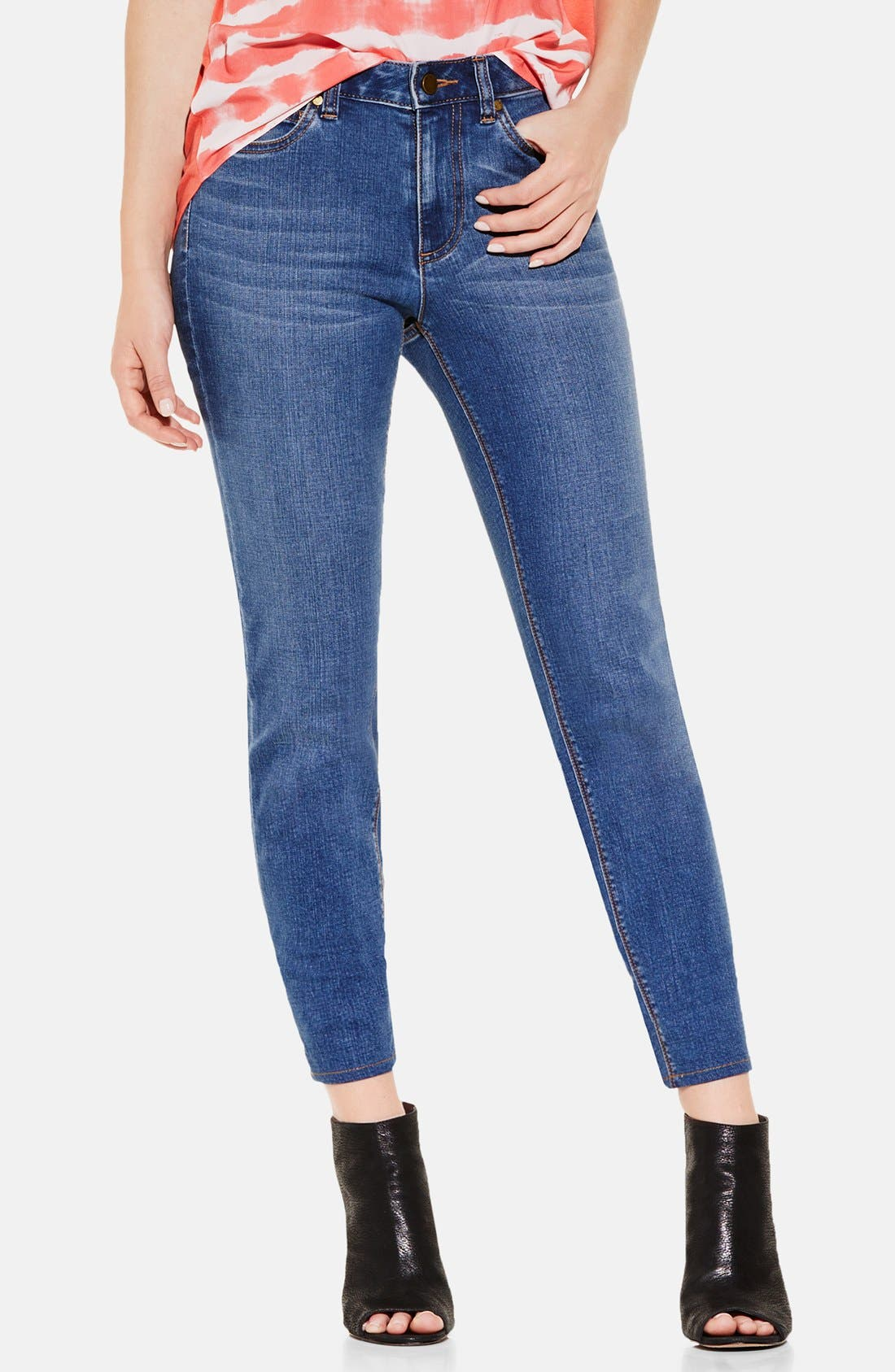 Five-Pocket Stretch Skinny Jeans,                         Main,                         color, Authentic