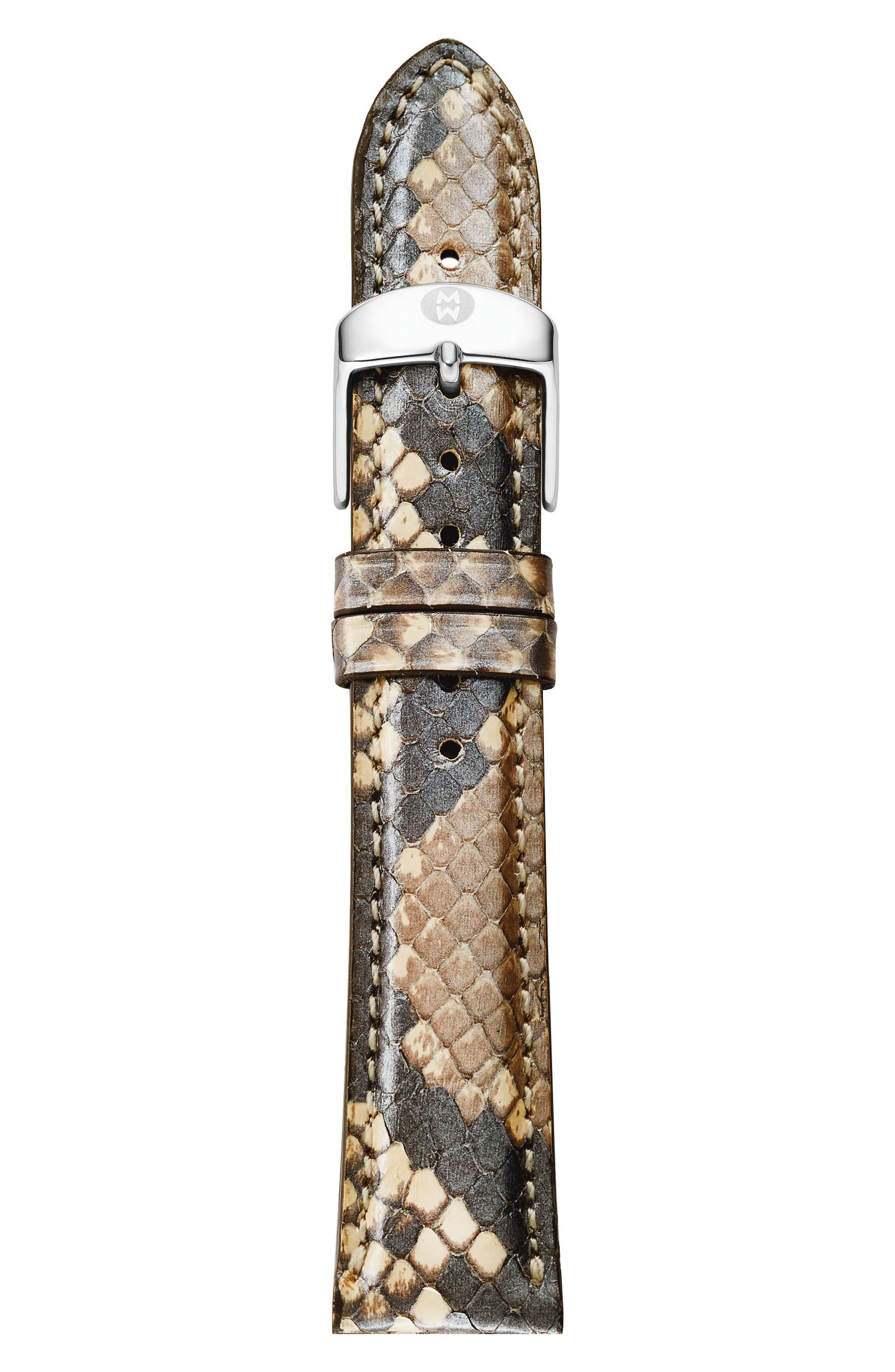 Alternate Image 1 Selected - MICHELE 16mm Leather Watch Strap
