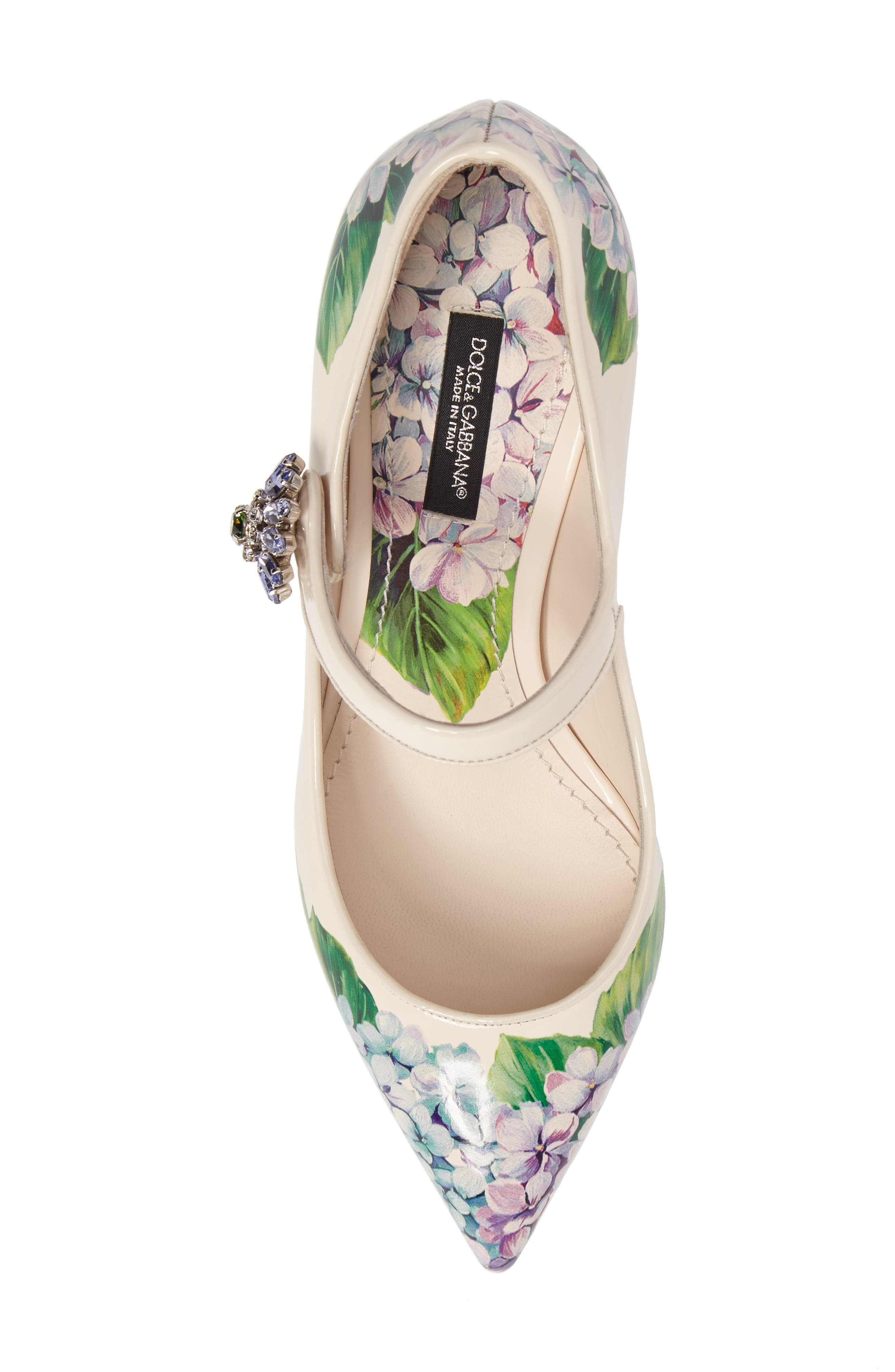 Hydrangea Mary Jane Pump,                             Alternate thumbnail 5, color,                             White Floral