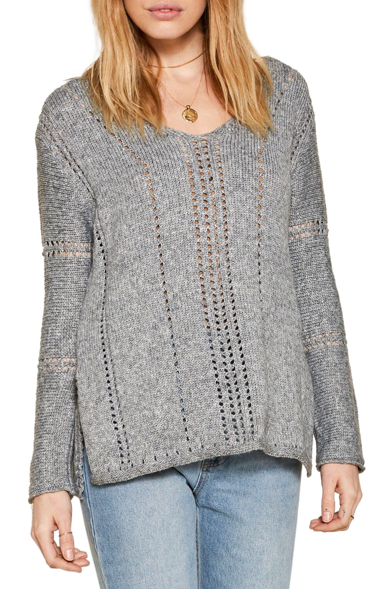 Rickerson Sweater,                         Main,                         color, Heather Grey