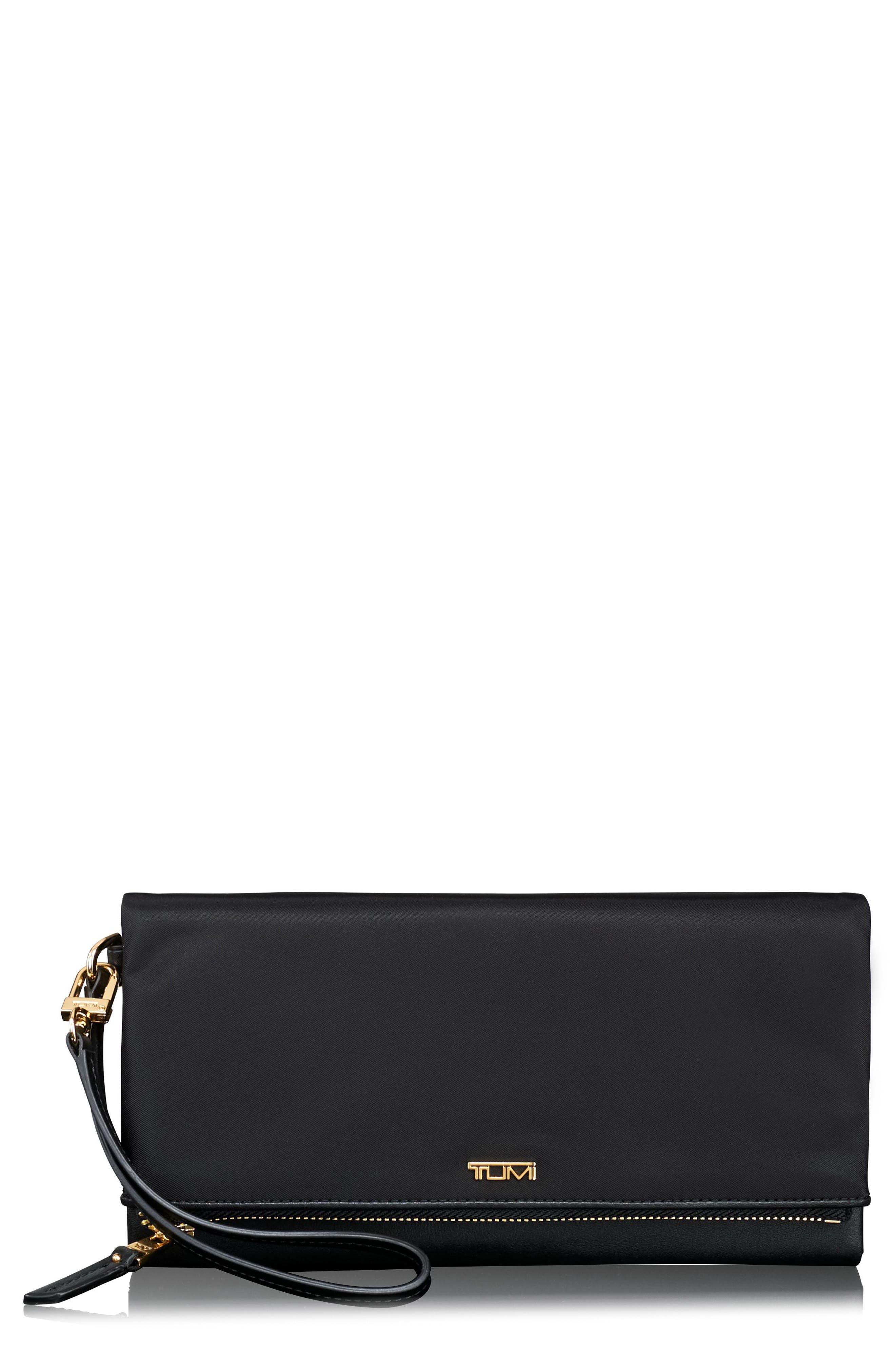 Travel Flap Wallet,                         Main,                         color, Black