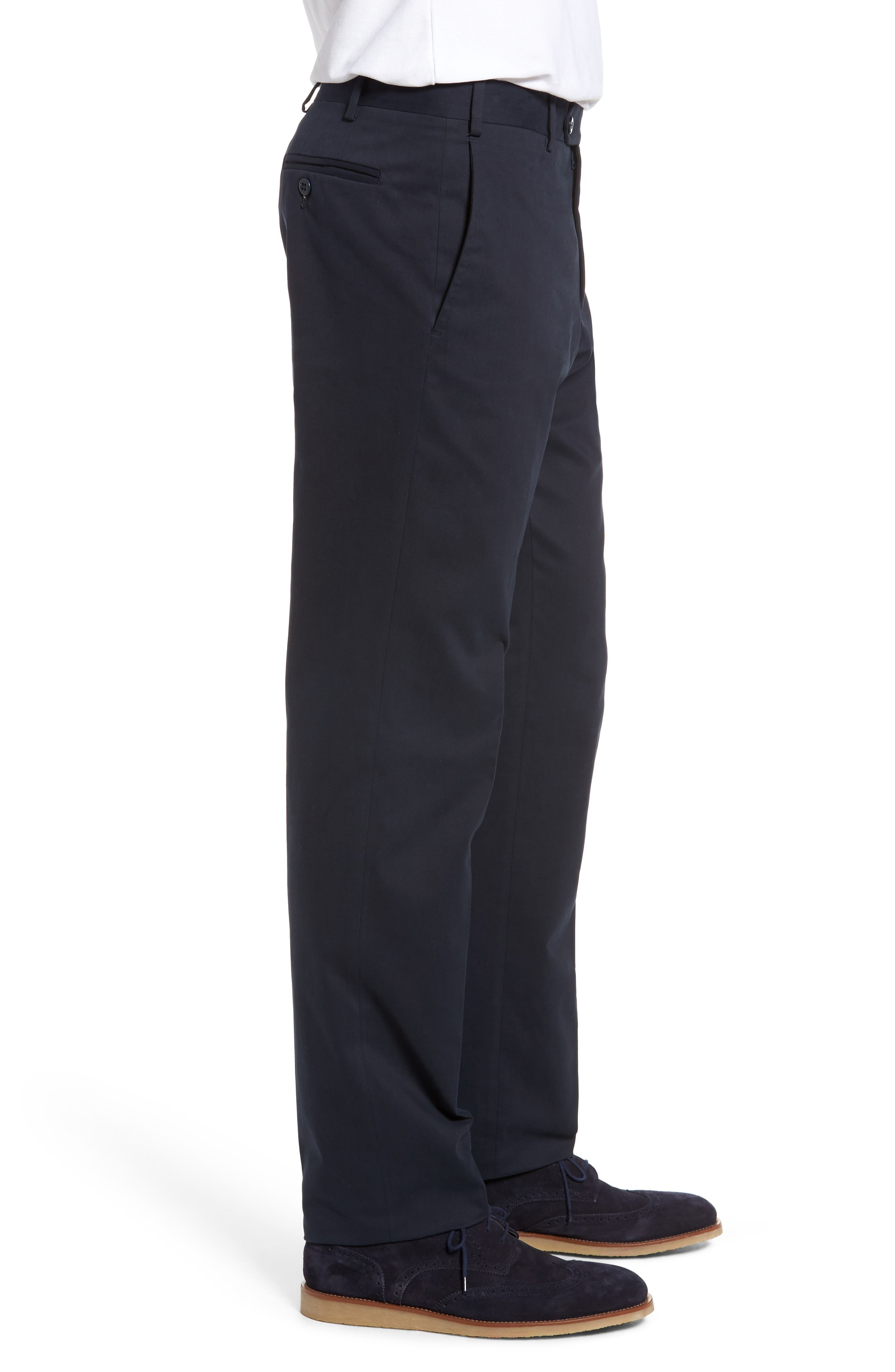 Alternate Image 3  - Zanella Parker Flat Front Solid Stretch Cotton Trousers