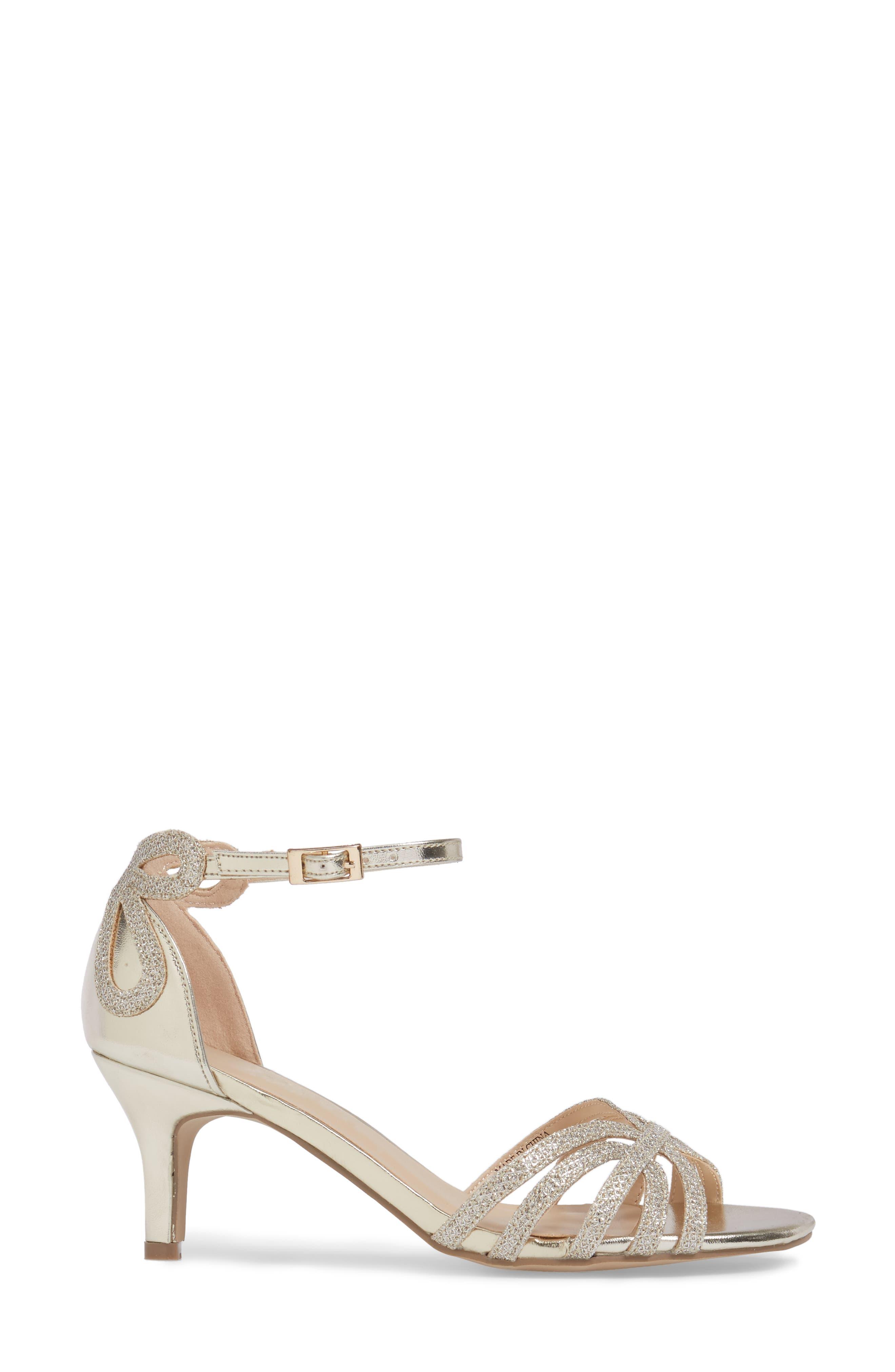 Melby Ankle Strap Sandal,                             Alternate thumbnail 3, color,                             Champagne