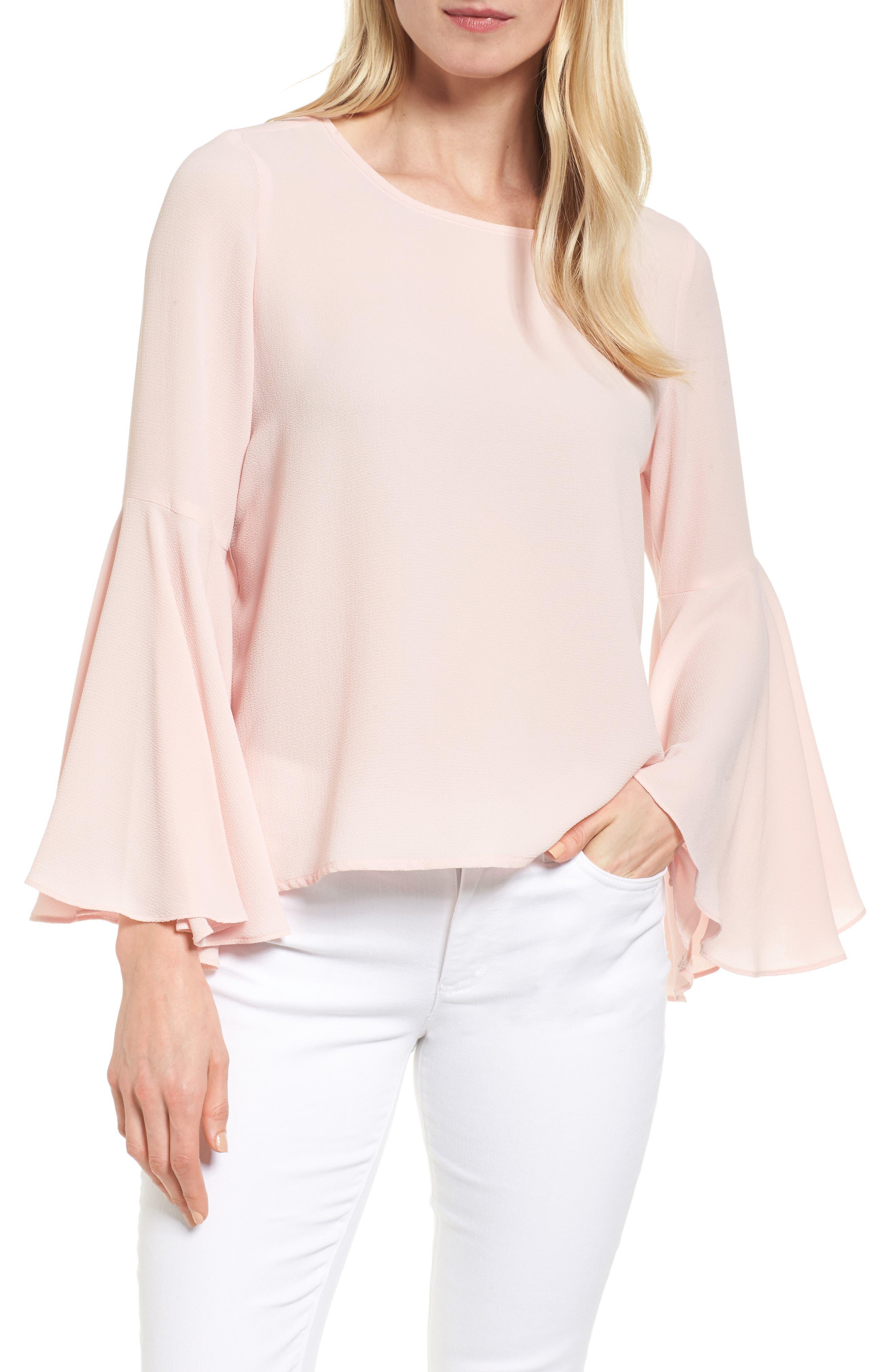 Bell Sleeve Blouse,                         Main,                         color, Taffy Twist