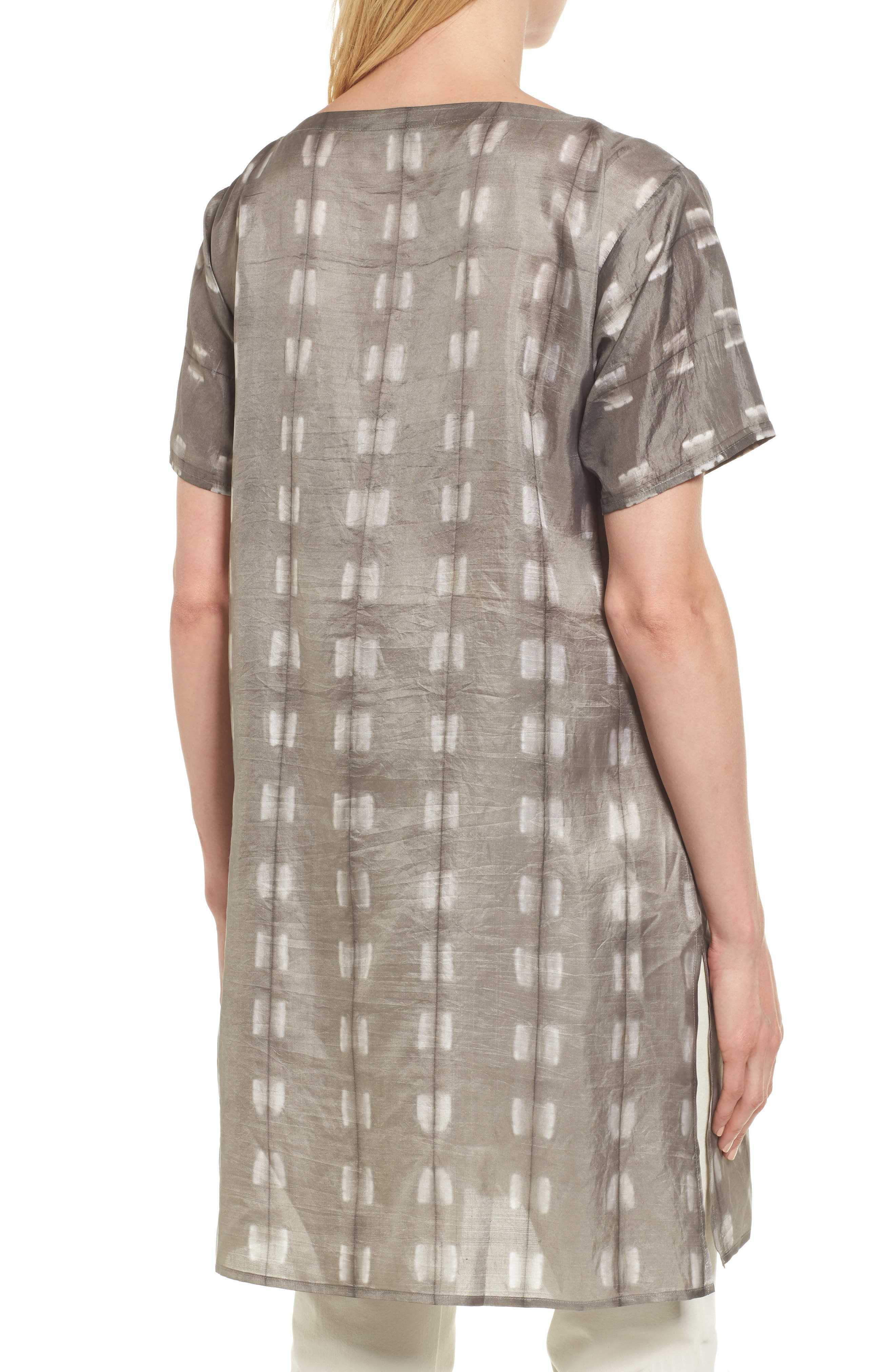 Alternate Image 2  - Eileen Fisher Bateau Neck Silk Tunic