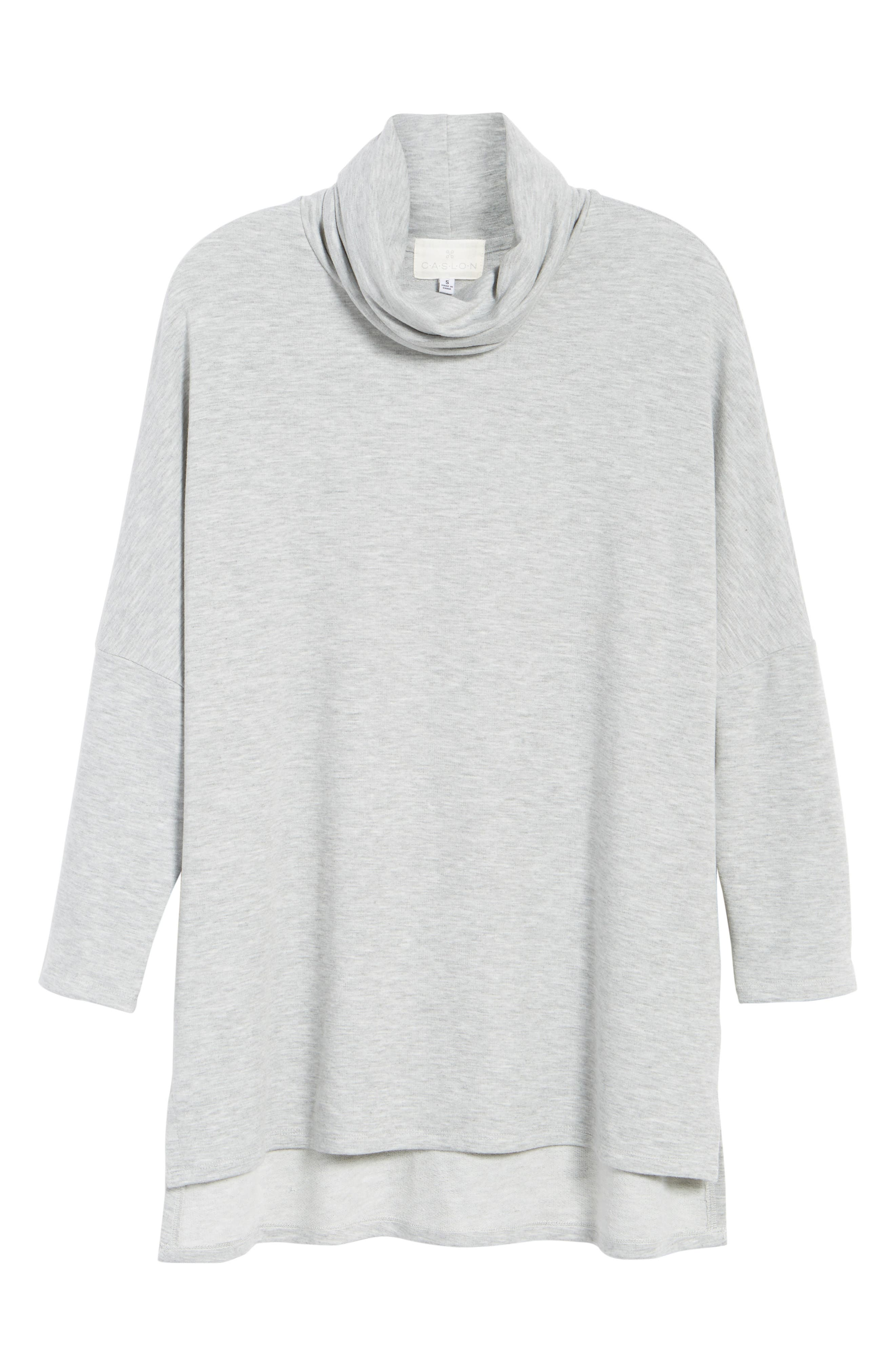 High/Low Tunic,                             Alternate thumbnail 7, color,                             Heather Grey
