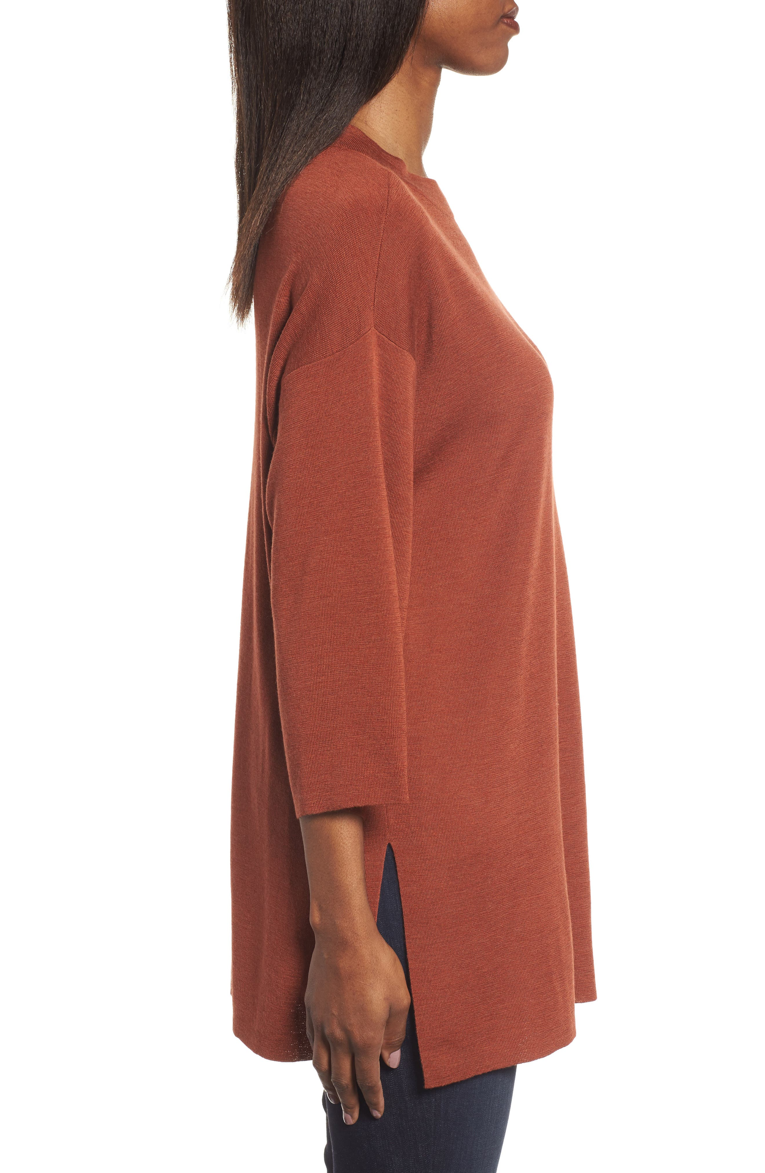 Alternate Image 3  - Eileen Fisher Merino Wool Tunic