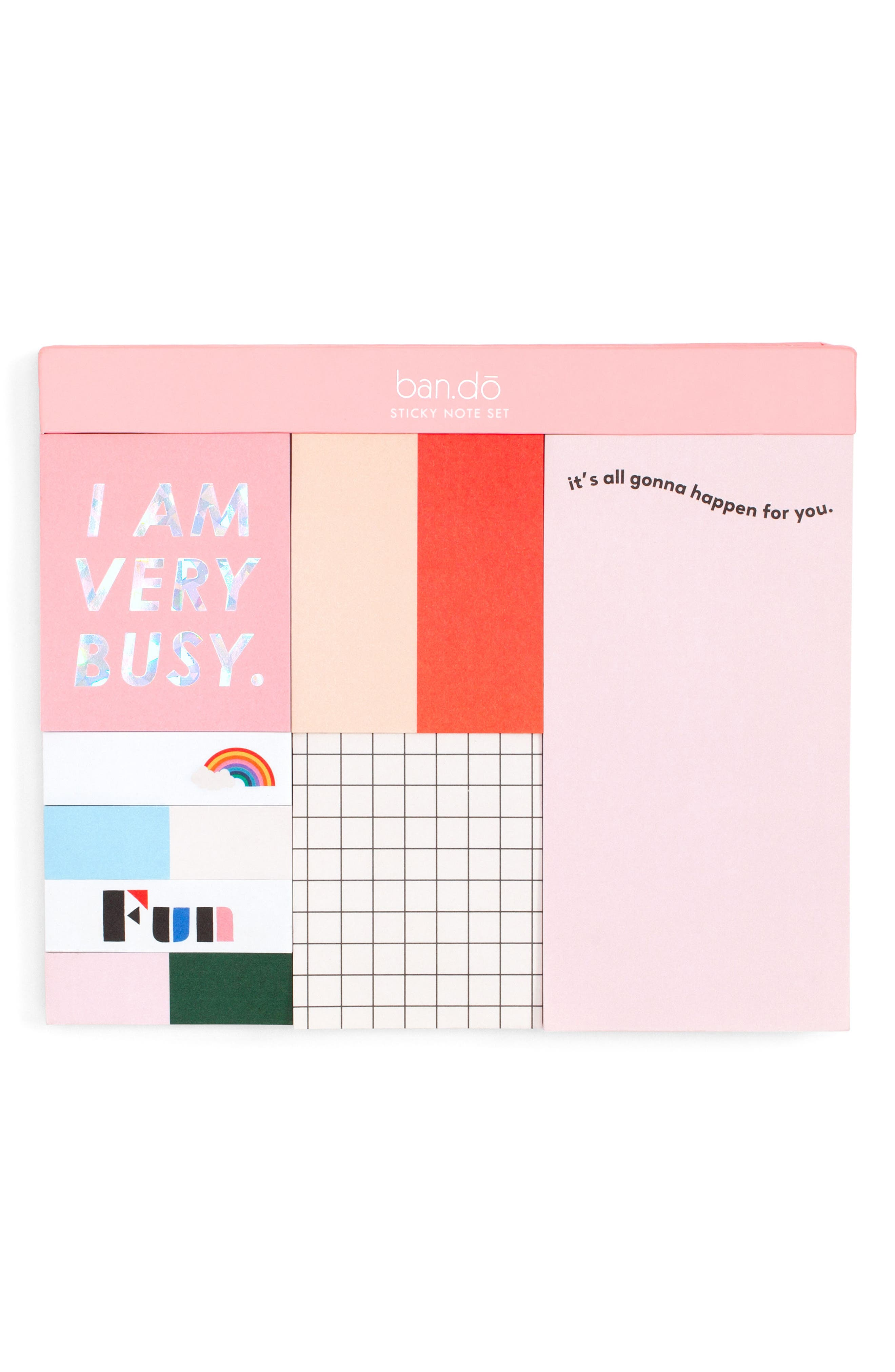 Sticky Note Set,                         Main,                         color, Pink