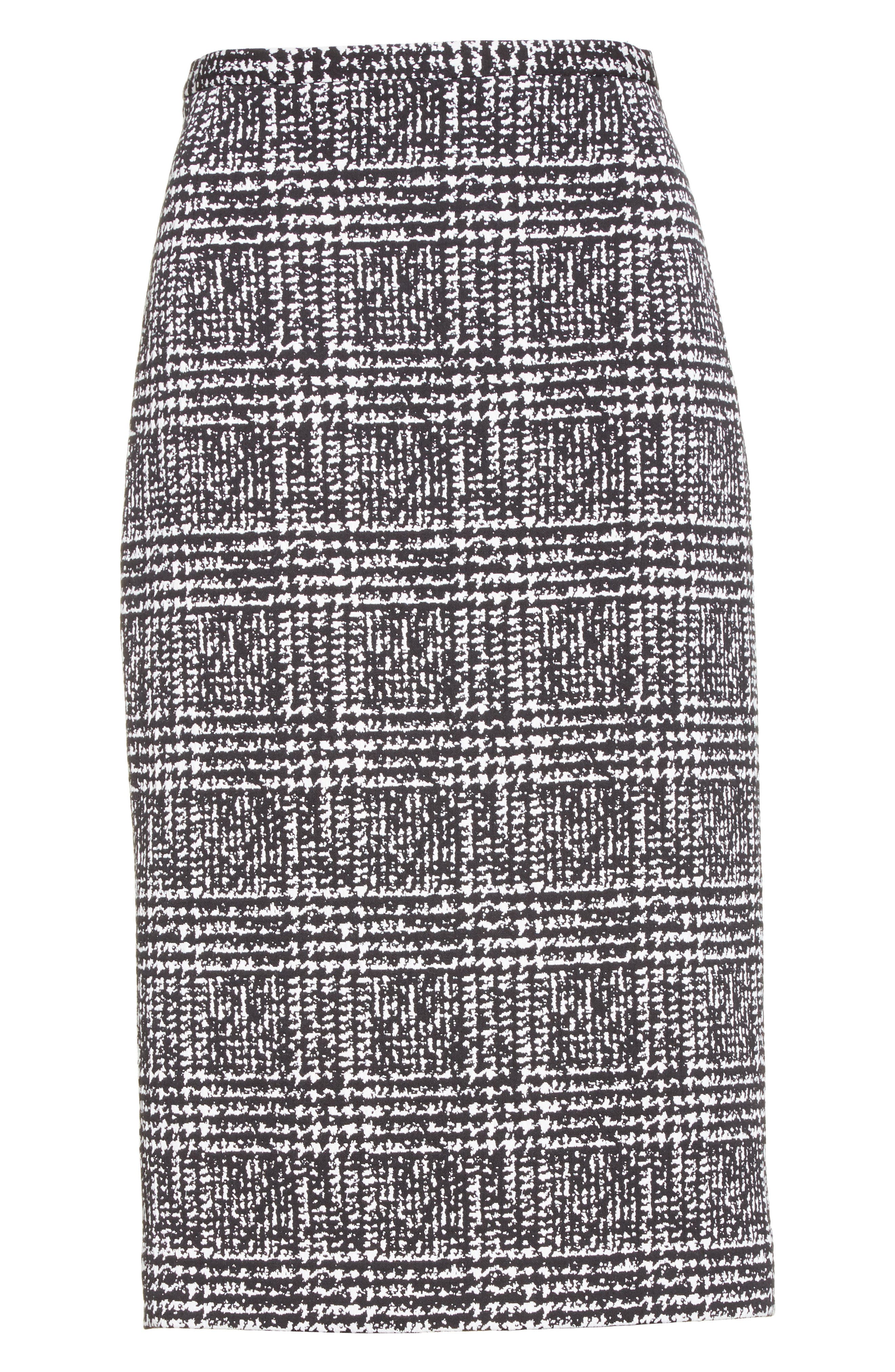 Alternate Image 4  - Michael Kors Glen Plaid Stretch Jacquard Skirt