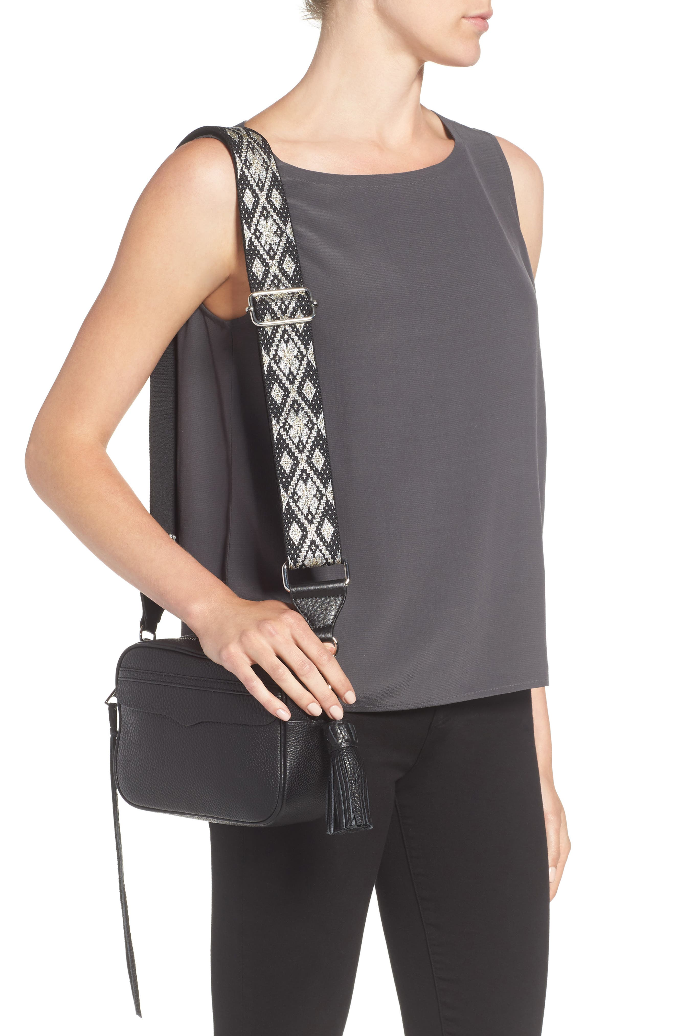 Alternate Image 2  - Rebecca Minkoff Leather Camera Bag with Guitar Strap (Nordstrom Exclusive)