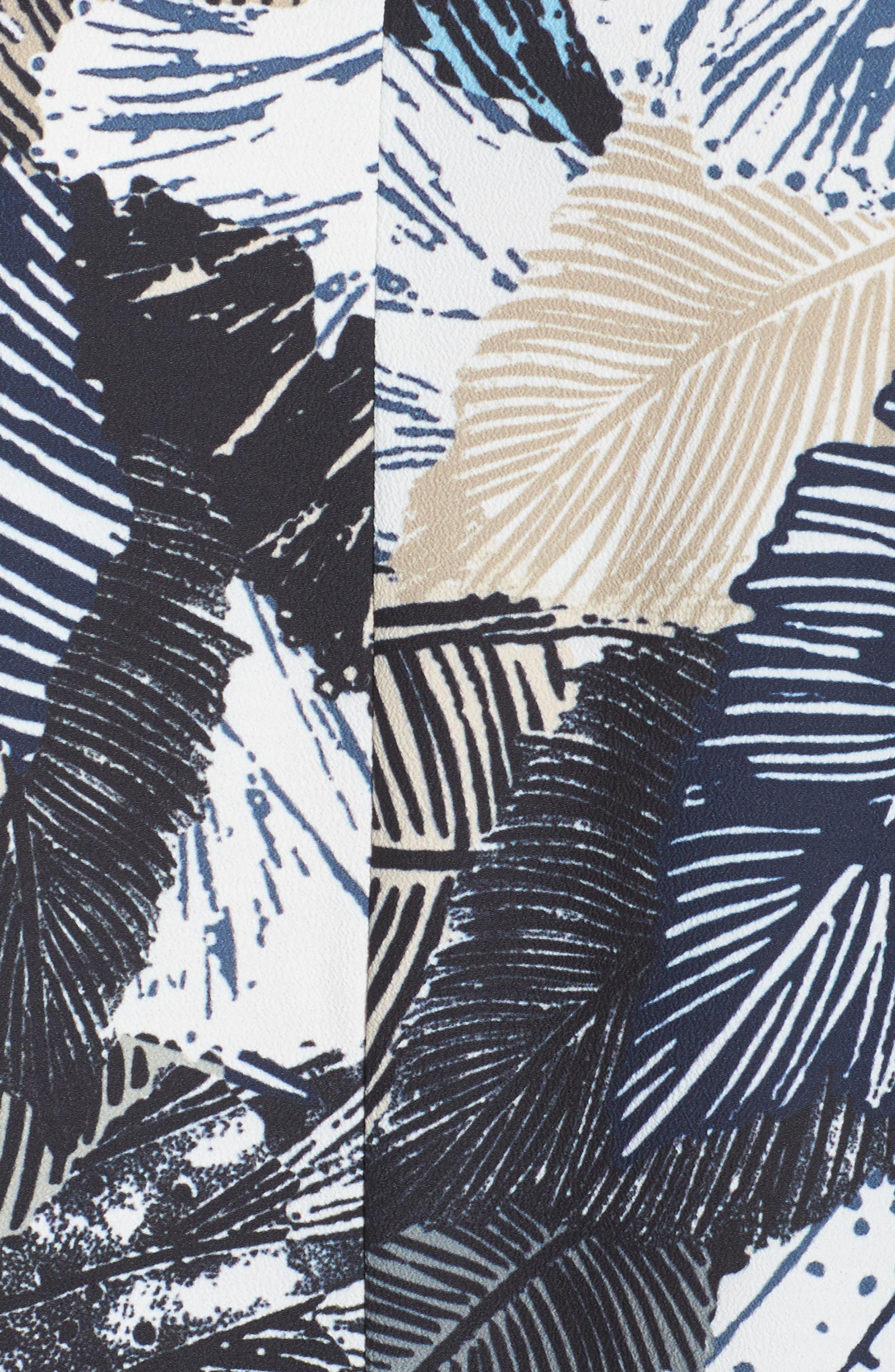 Lala Palm Culotte Jumpsuit,                             Alternate thumbnail 5, color,                             Summer White Multi