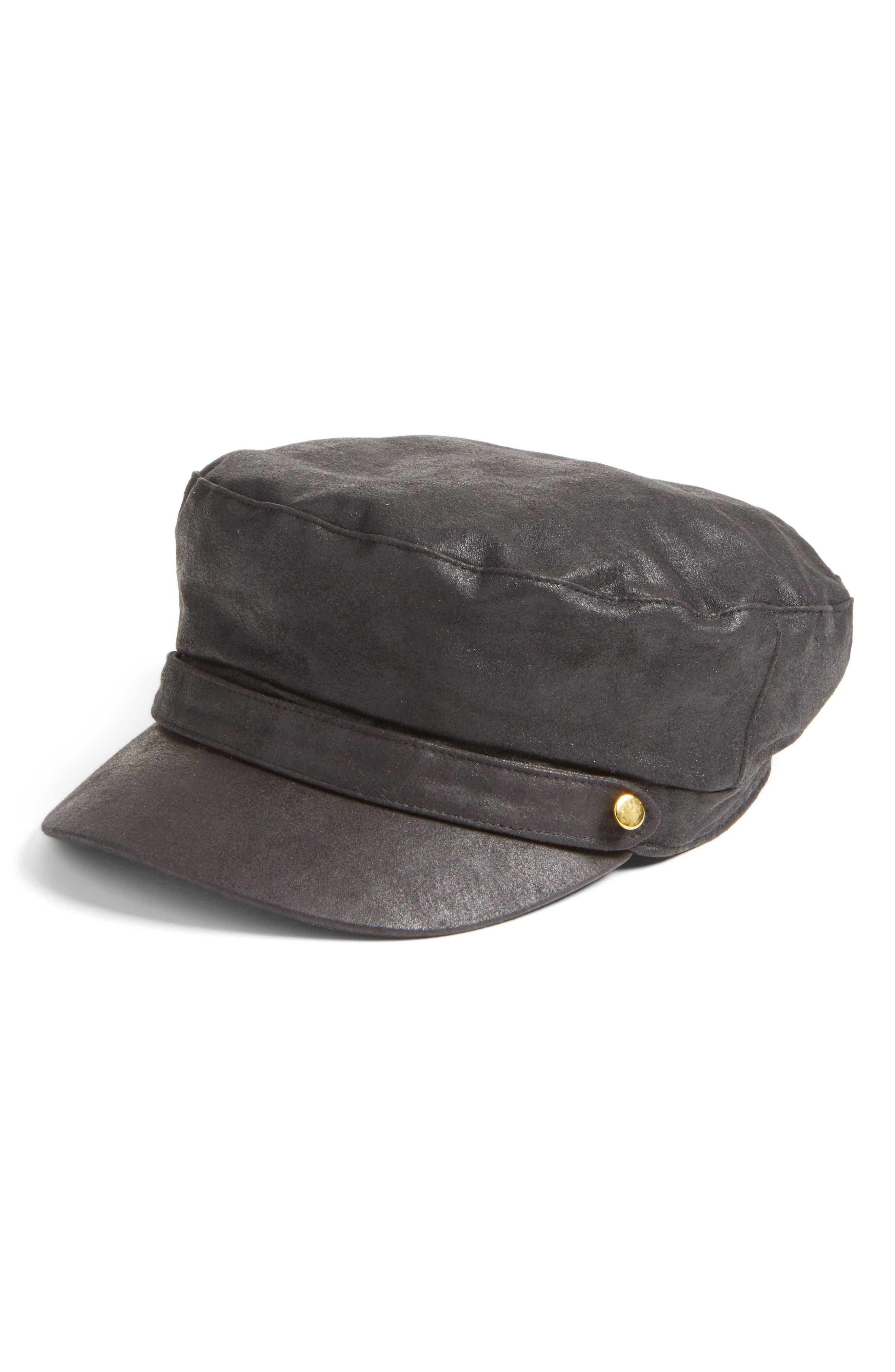 Lieutenant Cap,                         Main,                         color, Black