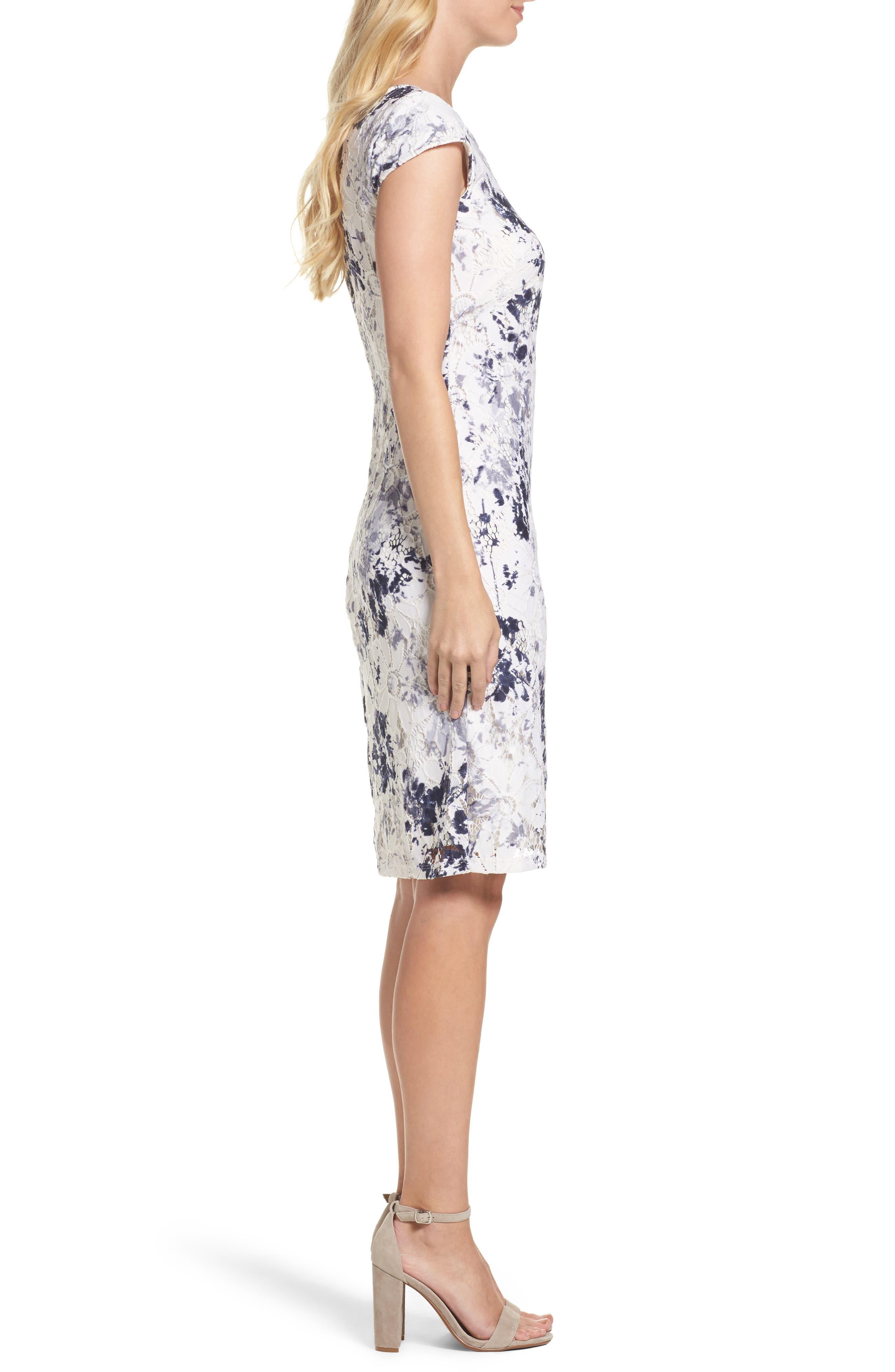 Alternate Image 3  - Chetta B Lace Sheath Dress