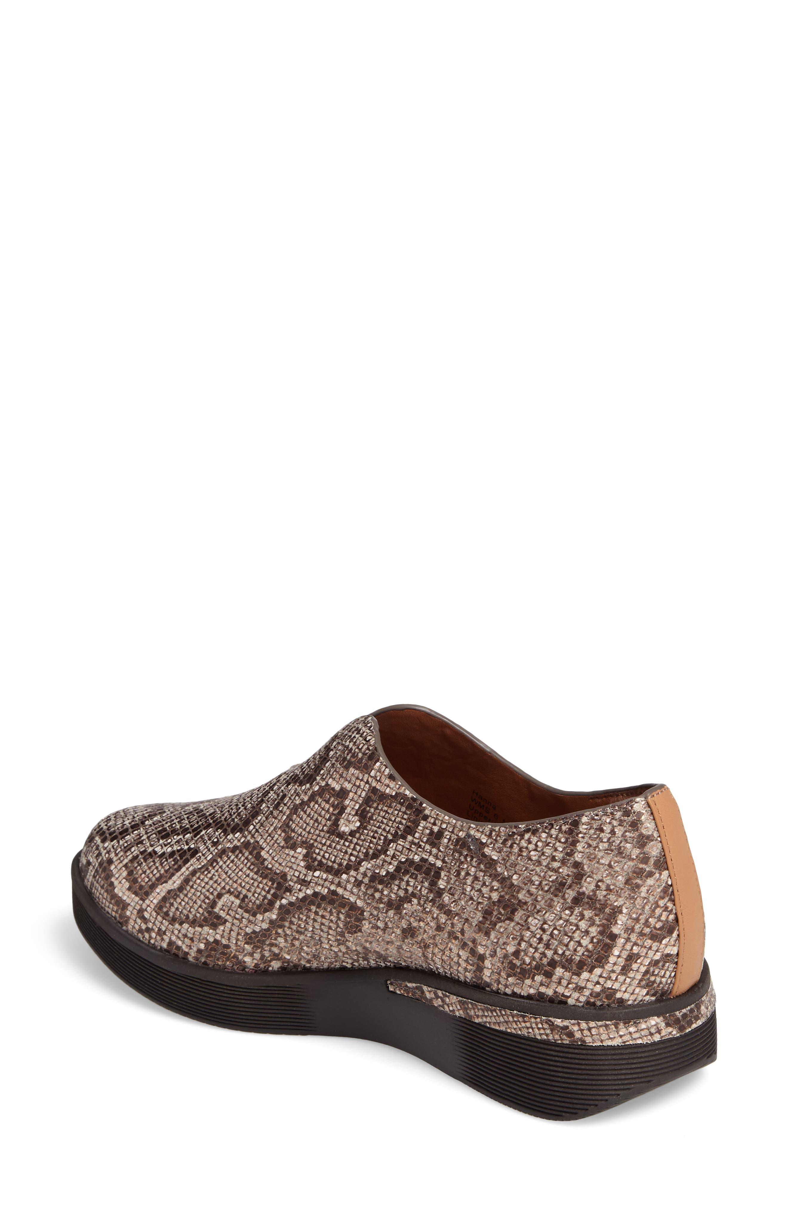 Hanna Slip-On Sneaker,                             Alternate thumbnail 2, color,                             Rose Gold Leather