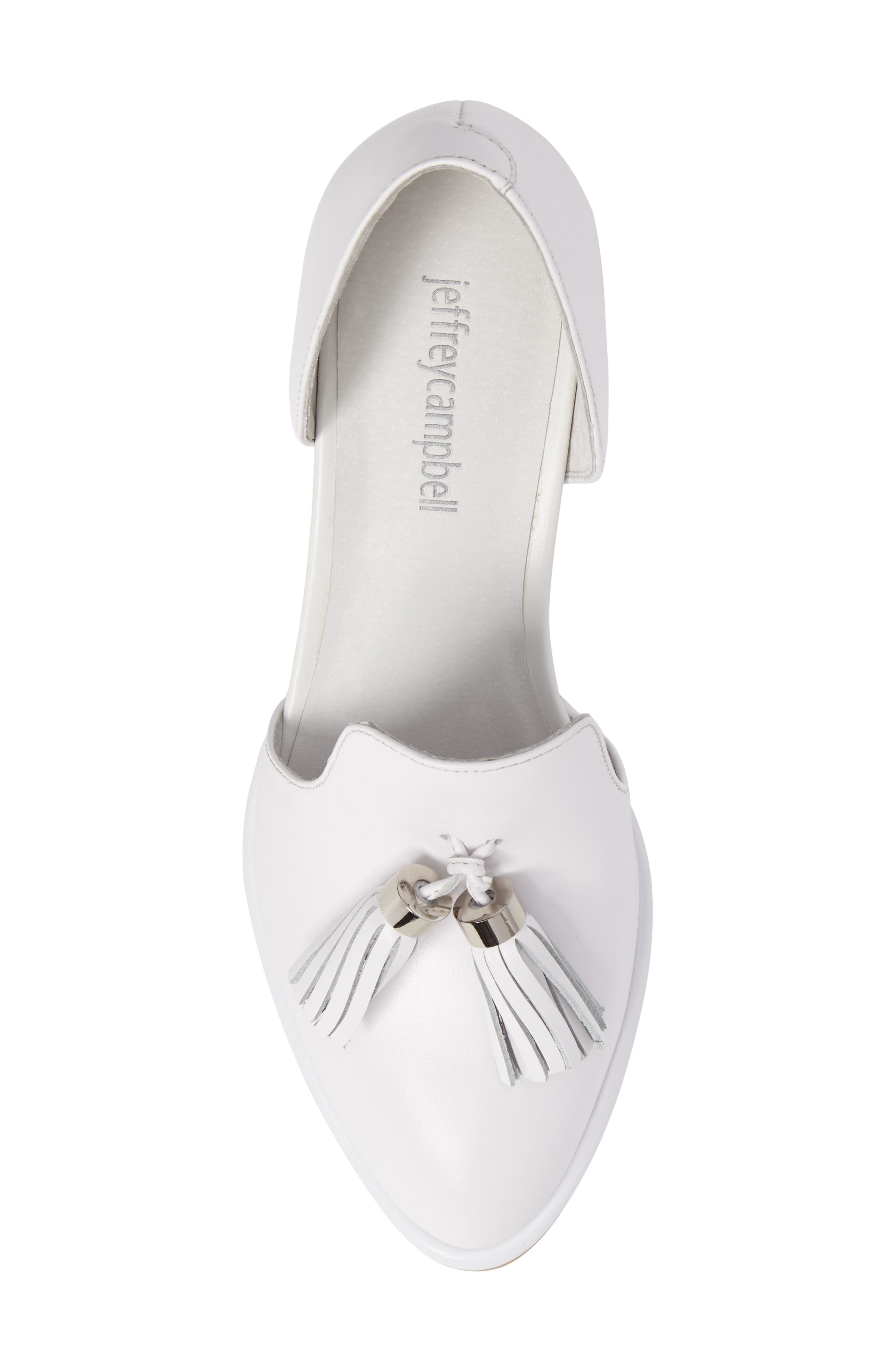 Alternate Image 5  - Jeffrey Campbell 'Civil' Pearly Heeled Beaded Tassel Loafer (Women)