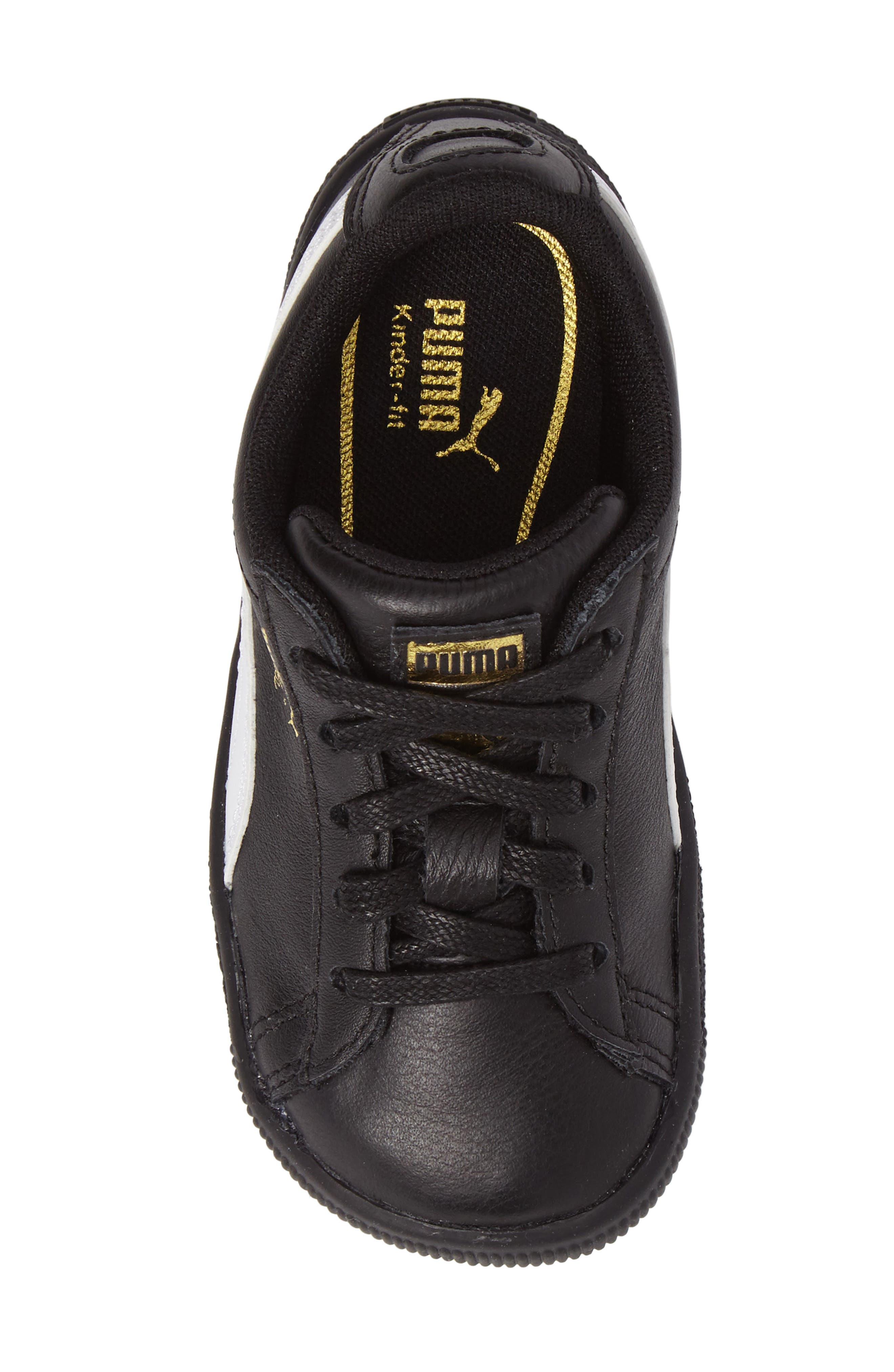 Alternate Image 5  - PUMA Clyde Core Foil Sneaker (Baby, Walker & Toddler)