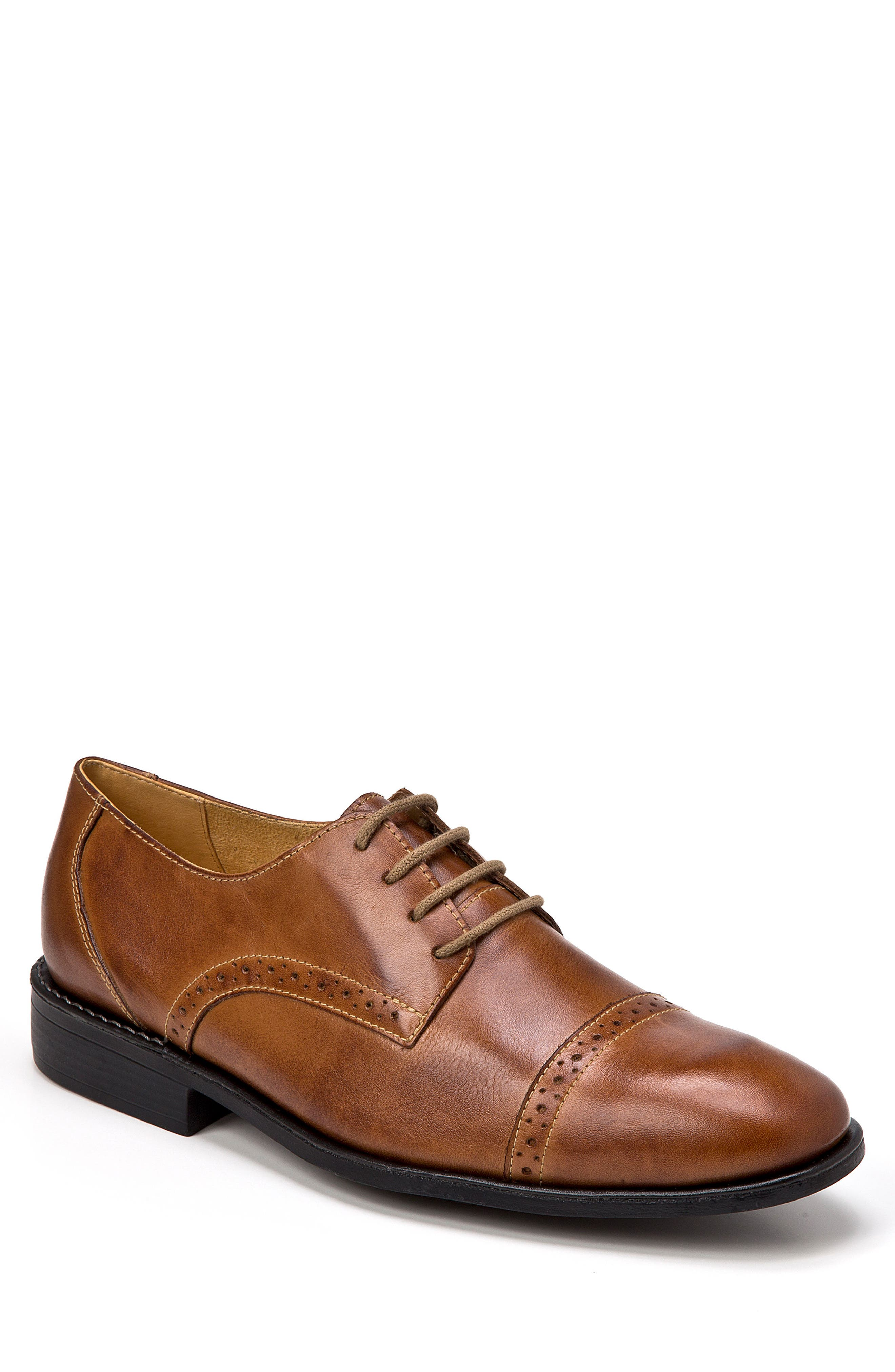 Elbert Cap Toe Derby,                         Main,                         color, Tan