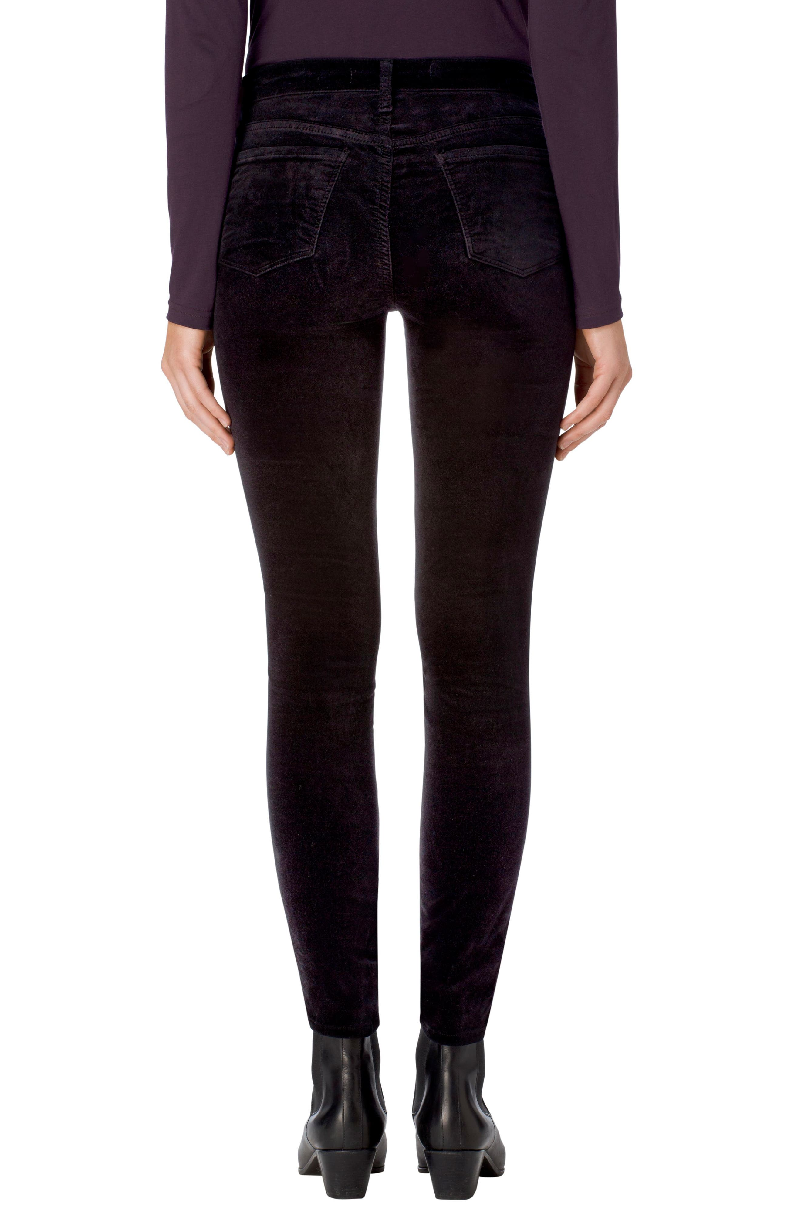 Alternate Image 2  - J Brand Zion Mid Rise Velvet Skinny Jeans