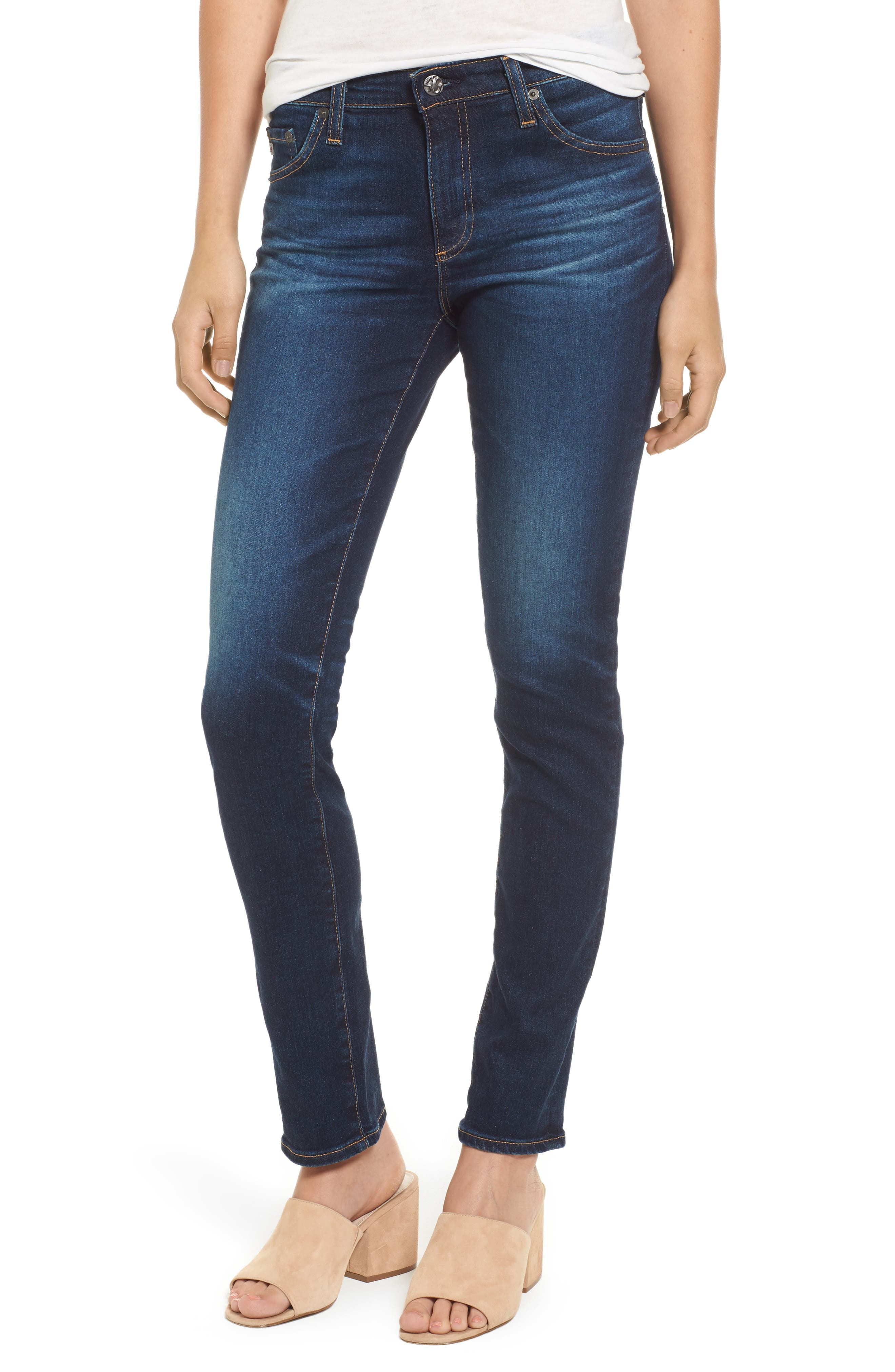 Alternate Image 1 Selected - AG Prima Skinny Jeans (4 Year Rapids)