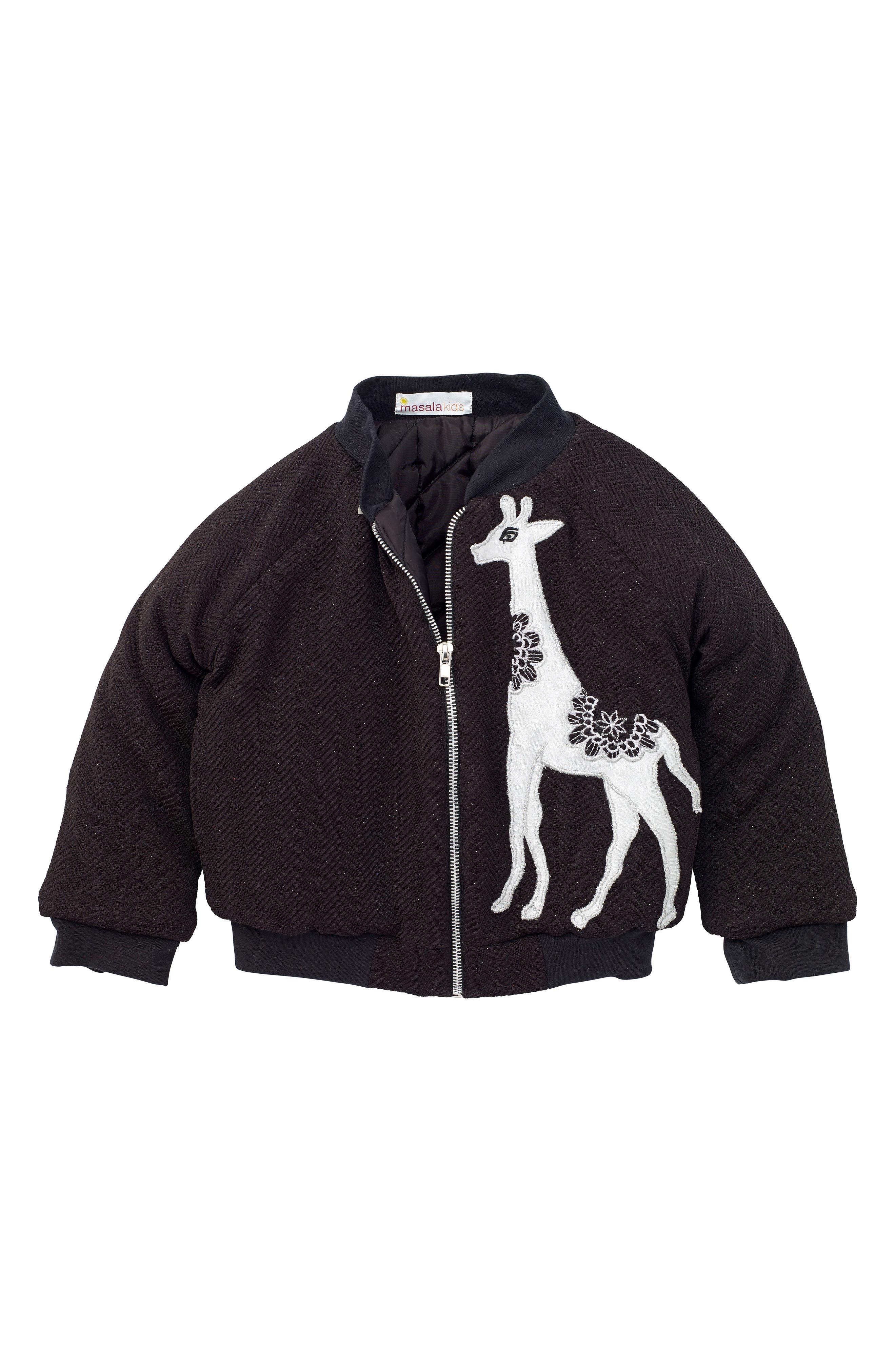 Gia Bomber Jacket,                         Main,                         color, Black