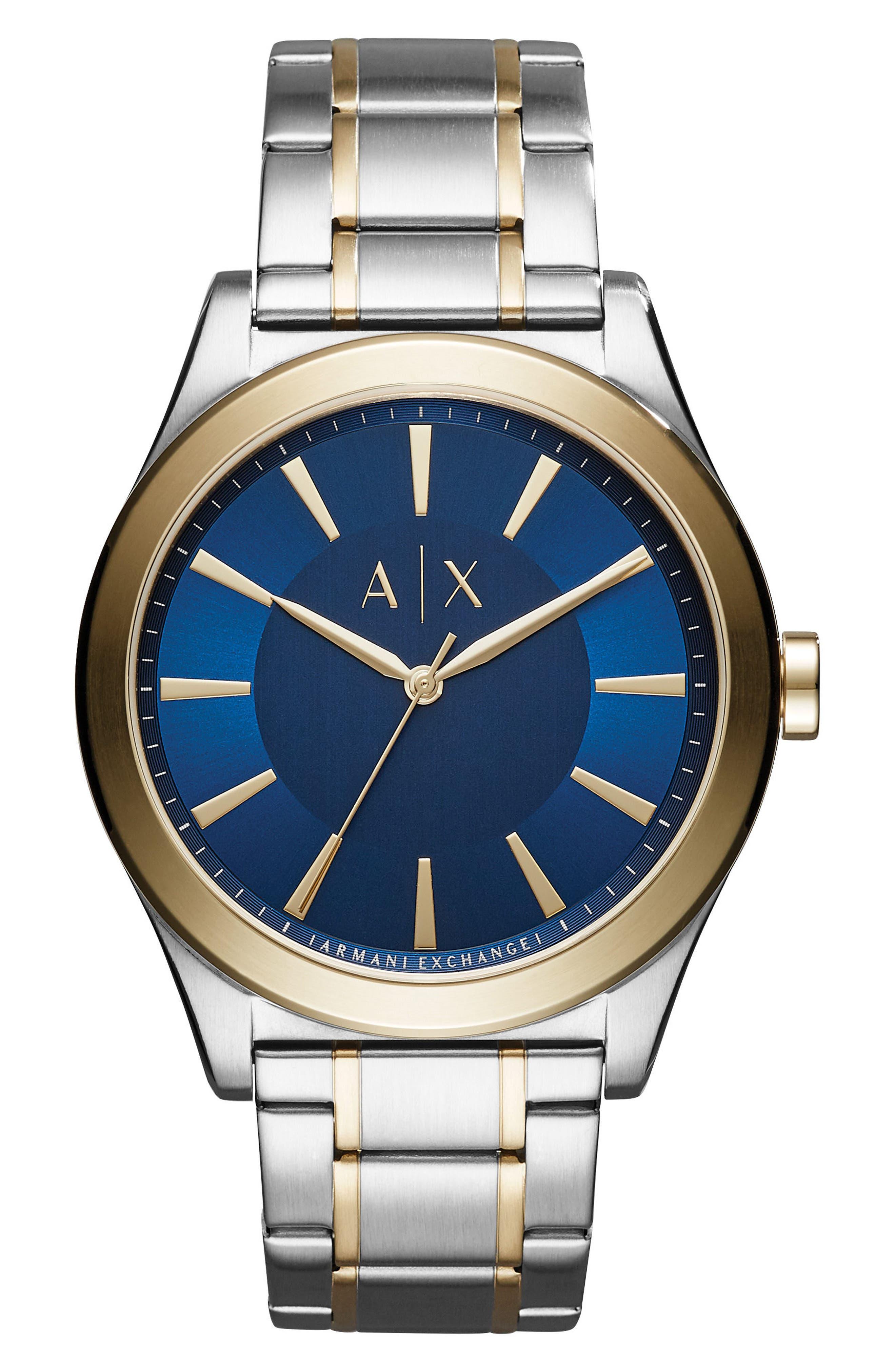 AX ARMANI EXCHANGE Nico Two-Tone Bracelet Watch, 44mm