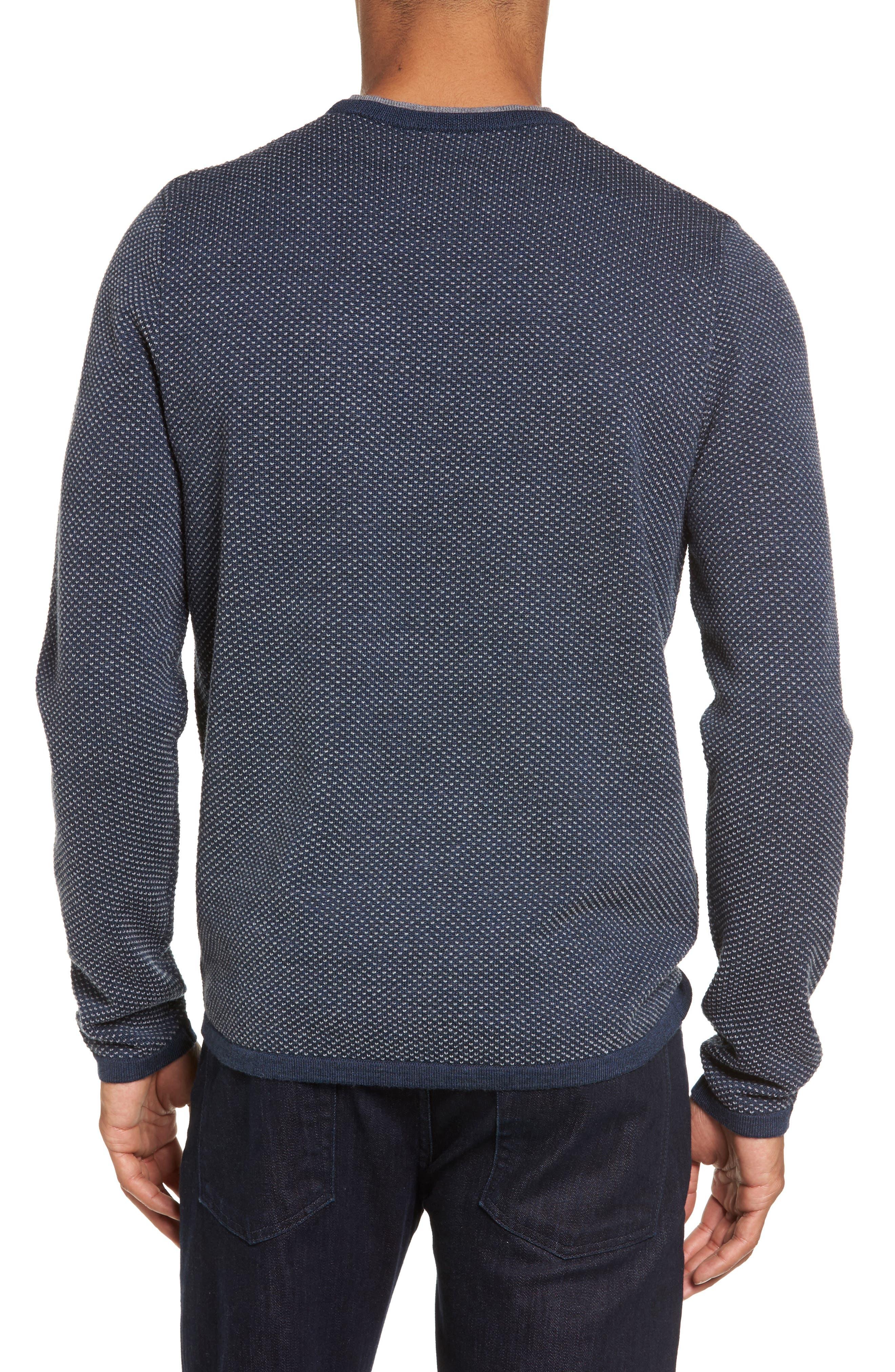 Alternate Image 2  - Nordstrom Men's Shop Crewneck Knit Sweater (Tall)
