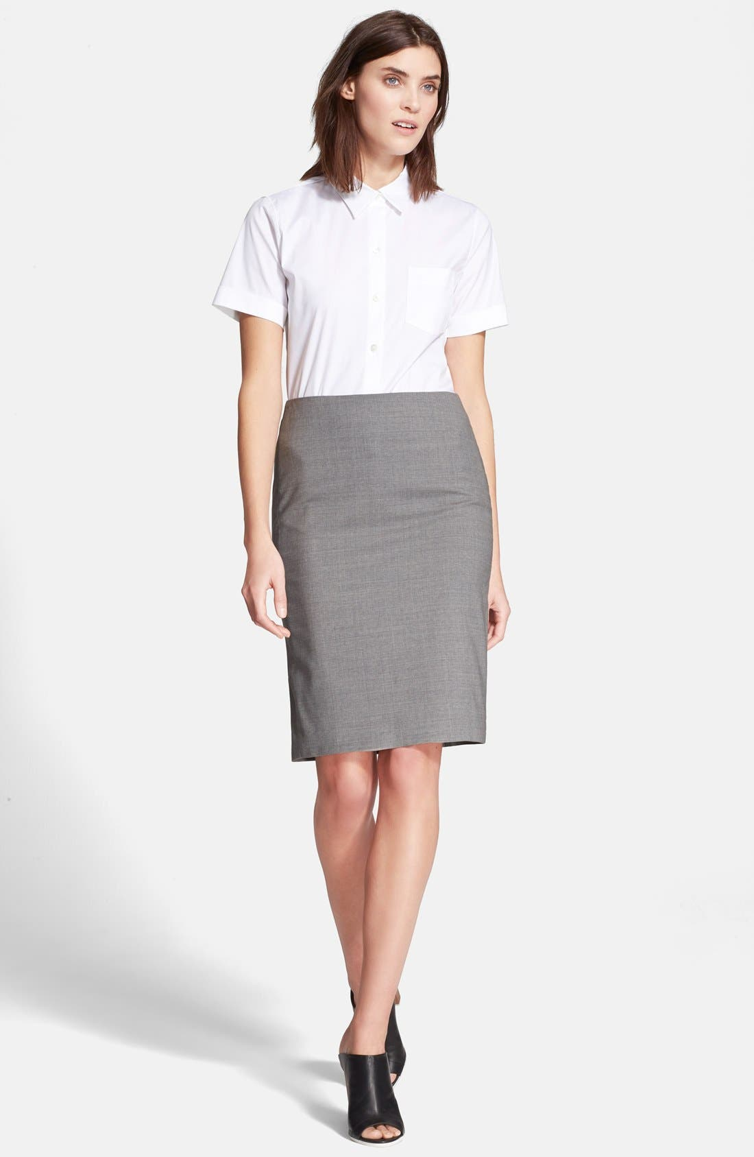 Alternate Image 2  - Theory 'Uniform' Short Sleeve Blouse