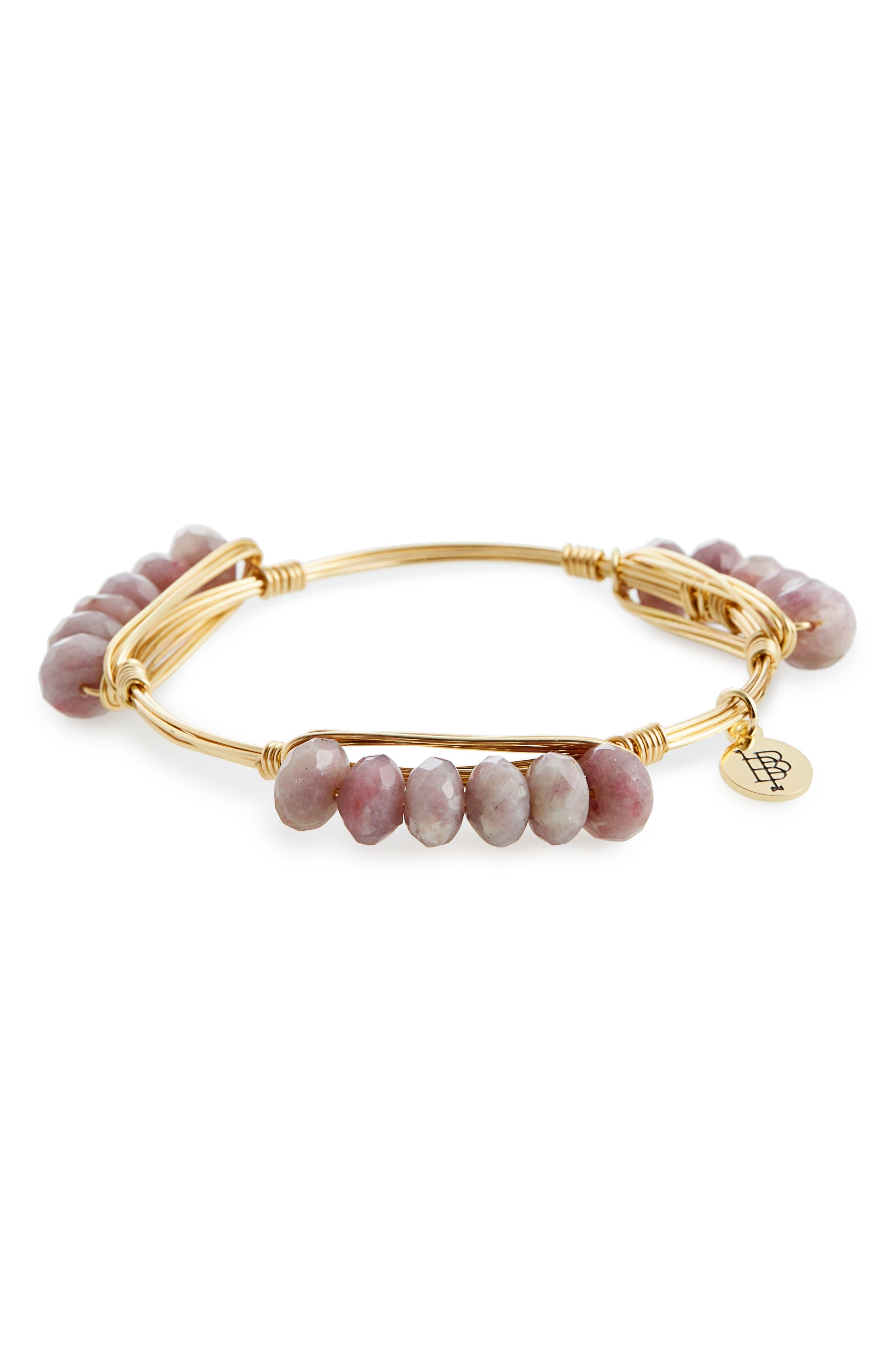 Agate Bracelet,                         Main,                         color, Purple/ Gold