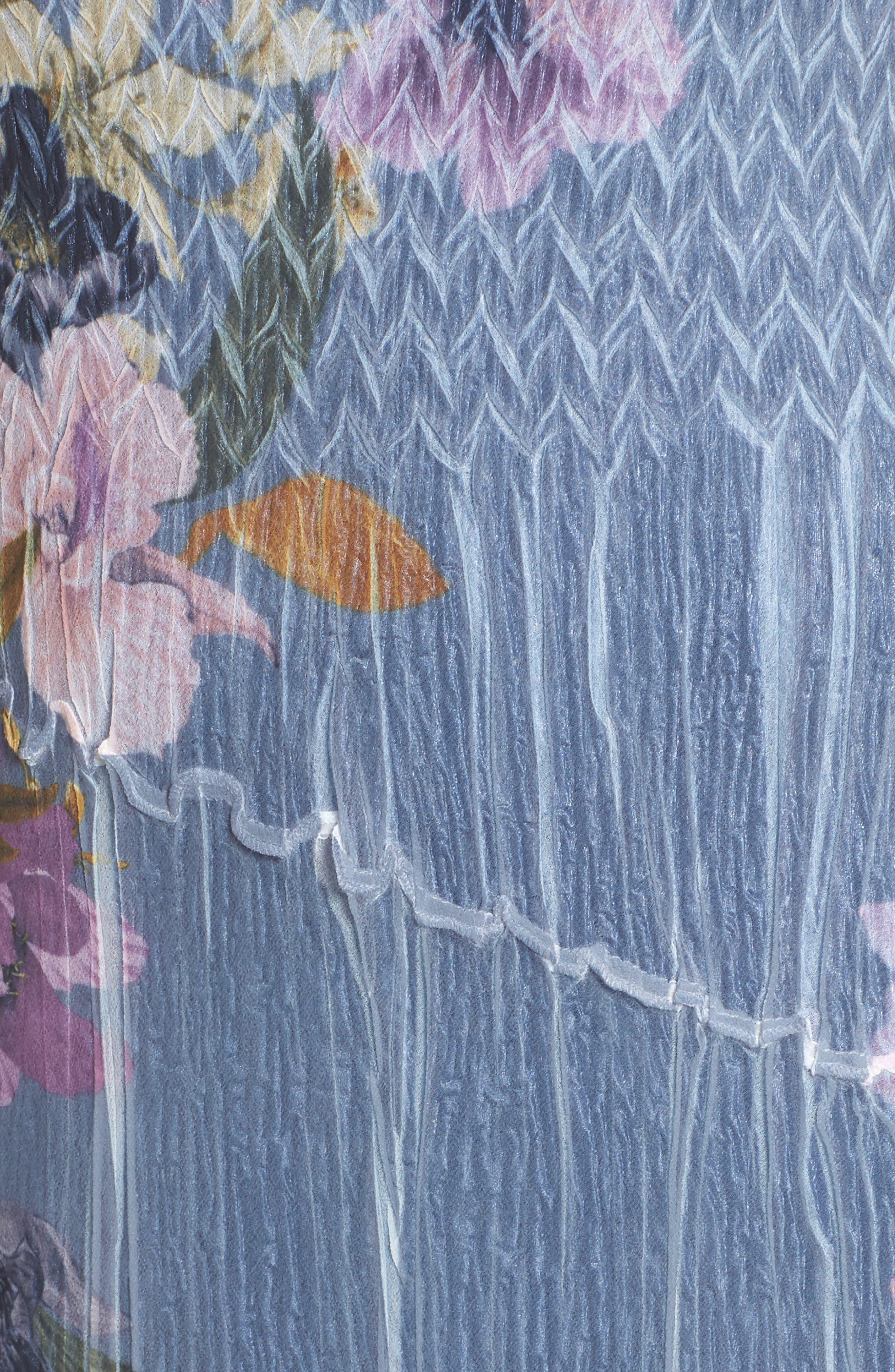 Alternate Image 5  - Komarov Chiffon & Lace A-Line Dress with Shawl (Regular & Petite)