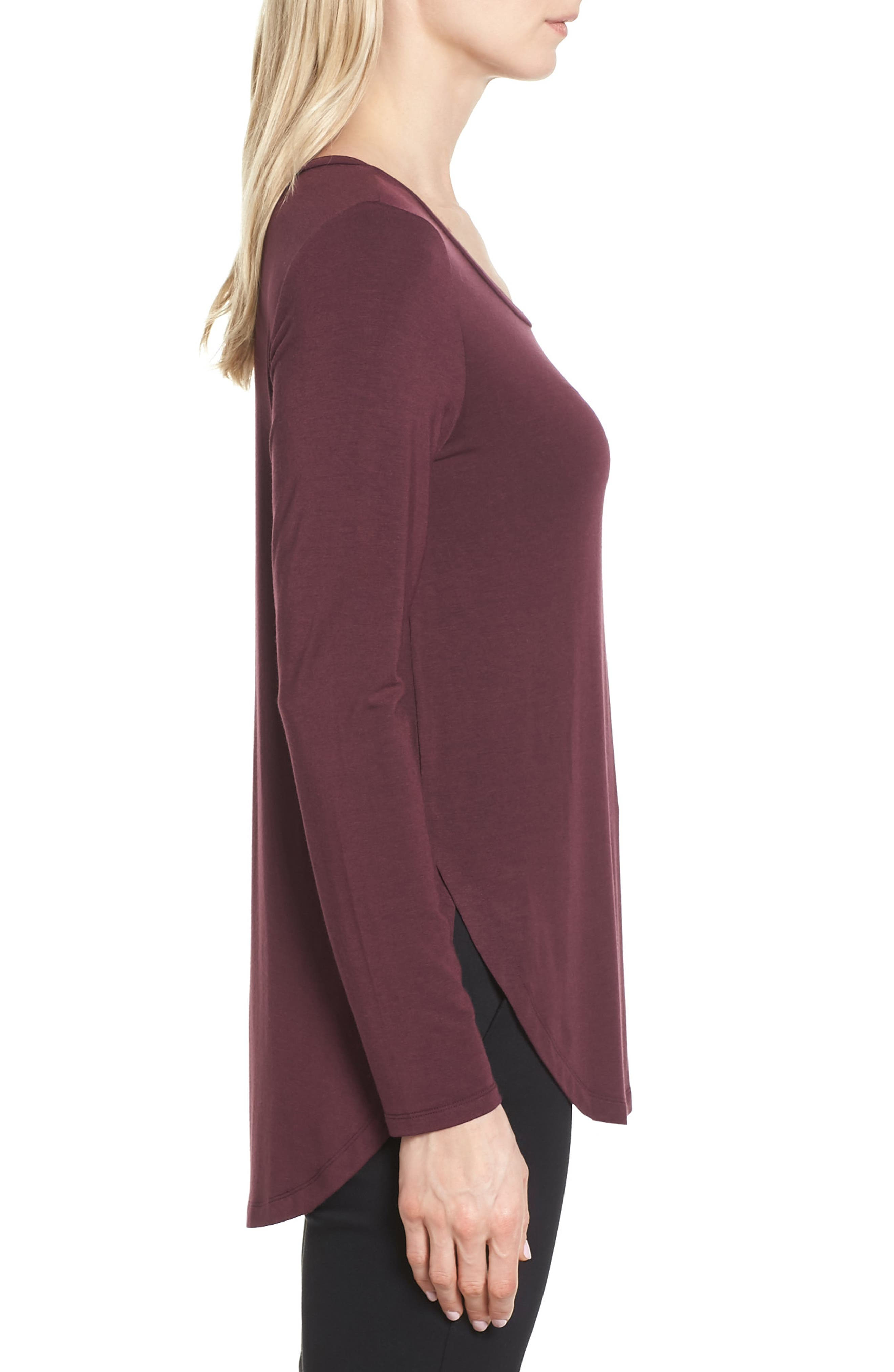 Alternate Image 3  - Halogen® Long Sleeve Knit Tunic (Regular & Petite)
