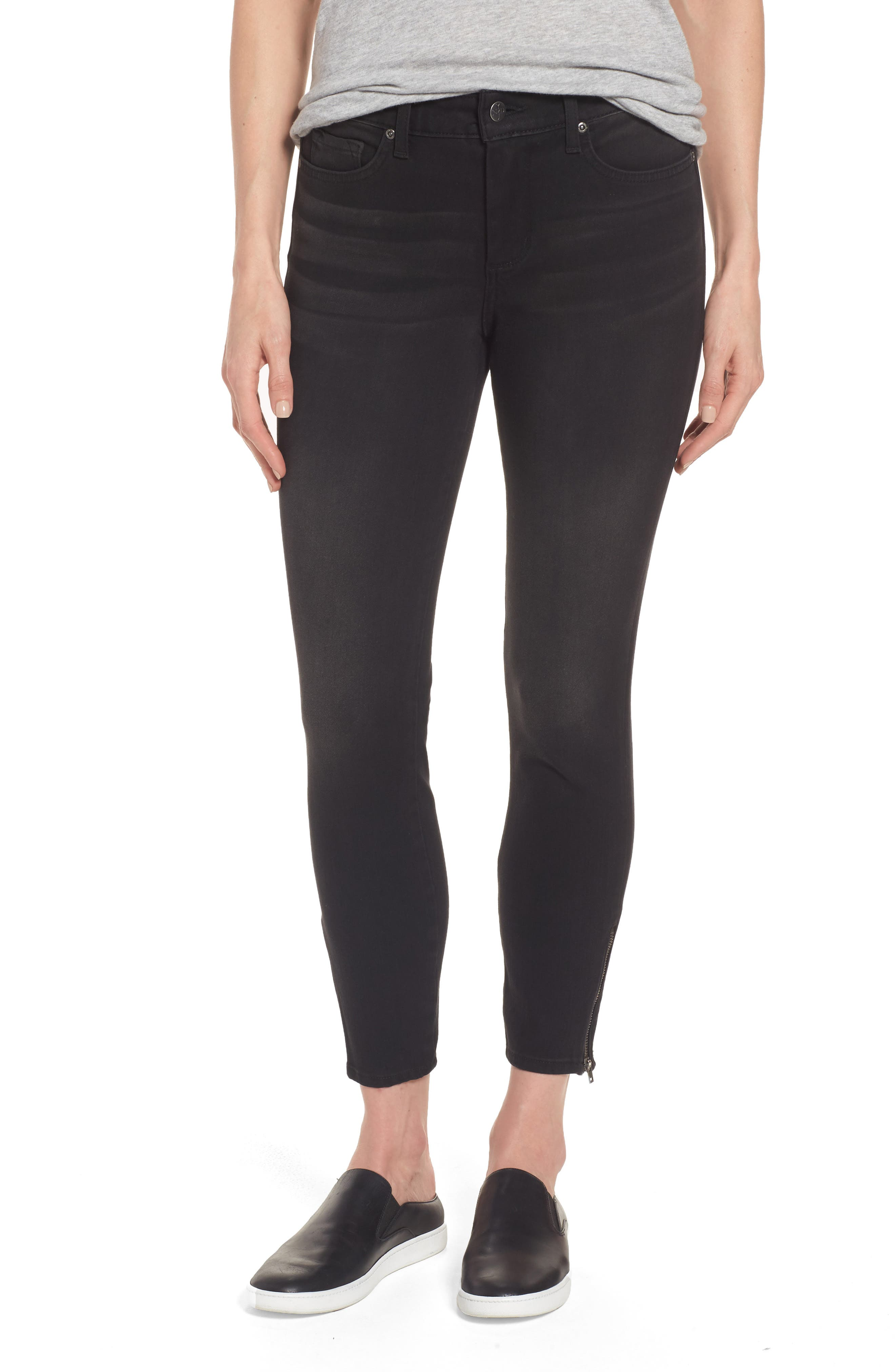NYDJ Stretch Zip Ankle Jeans