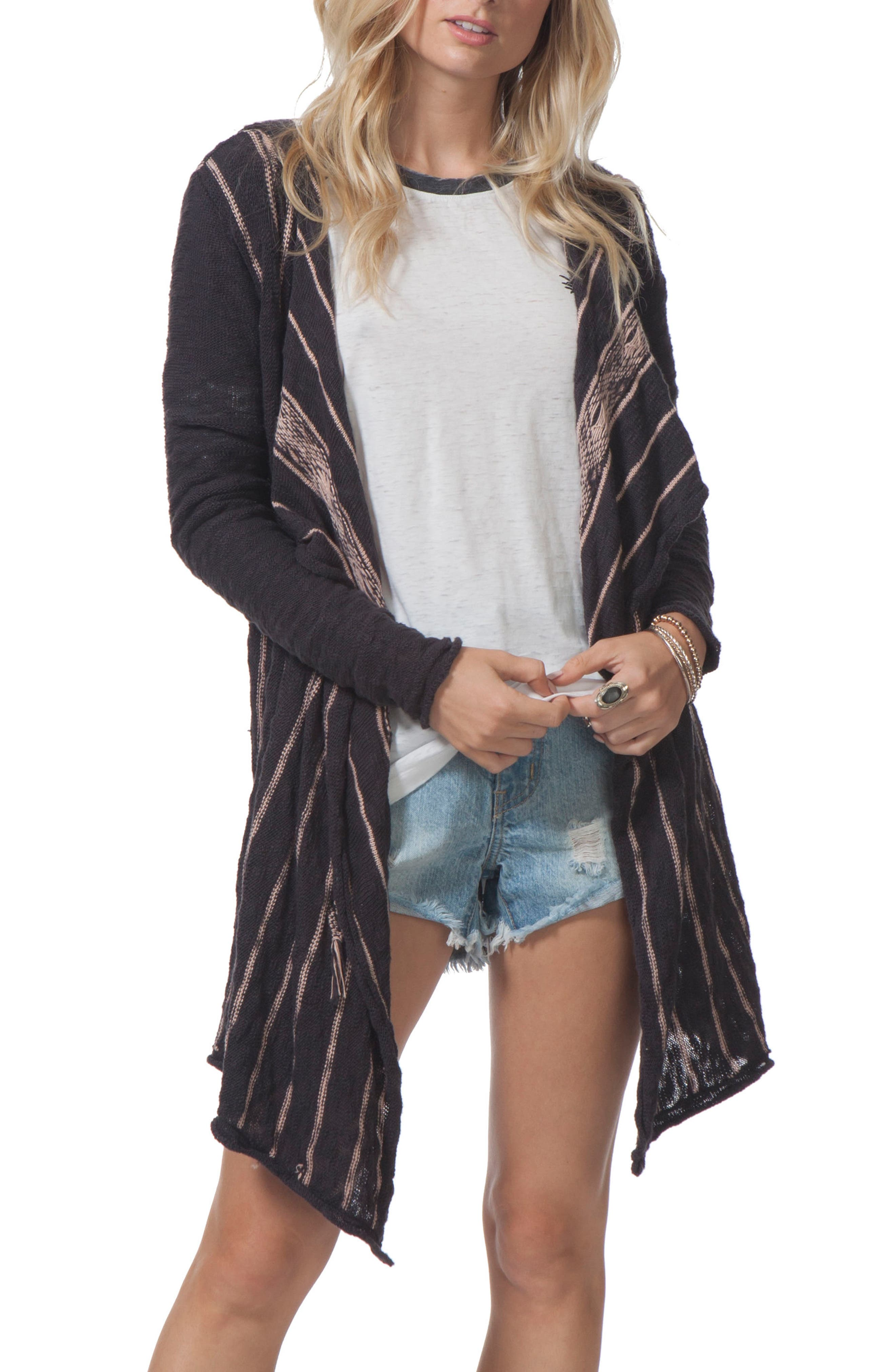 Rip Curl Blackbird Stripe Hooded Cardigan