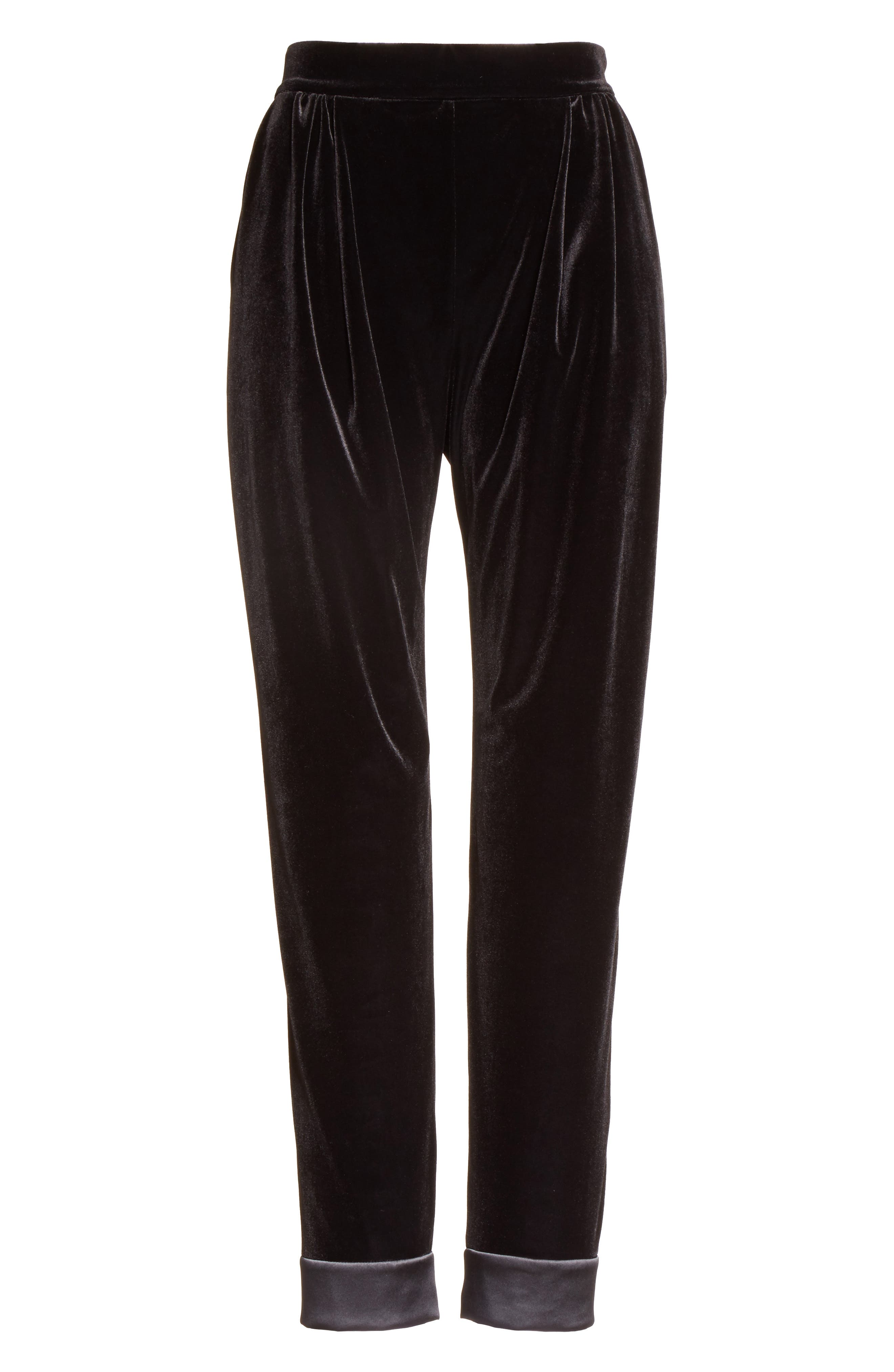 Alternate Image 4  - Armani Collezioni Stretch Velvet Ankle Pants