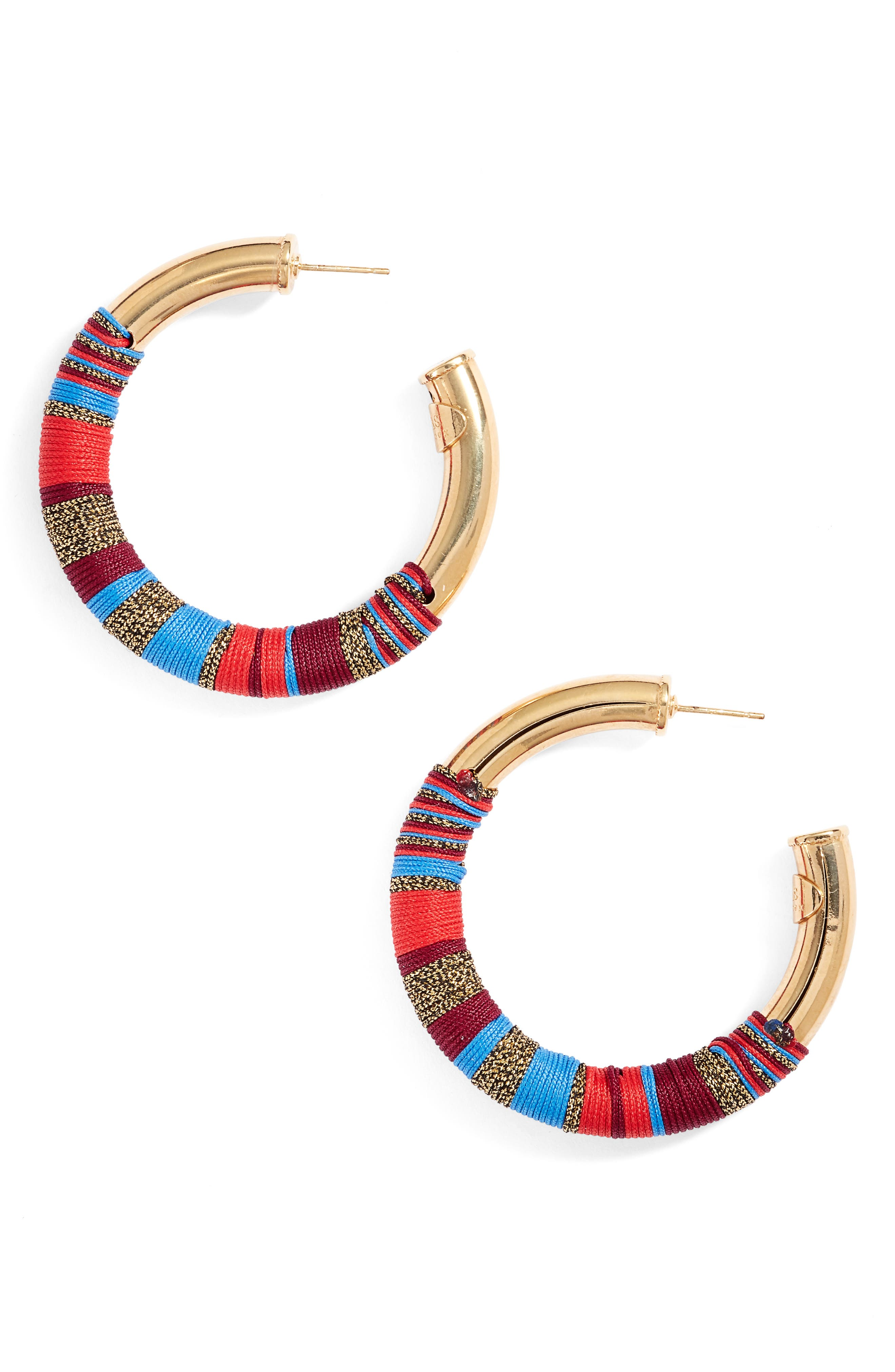 Gas Bijoux Wrapped Hoop Earrings