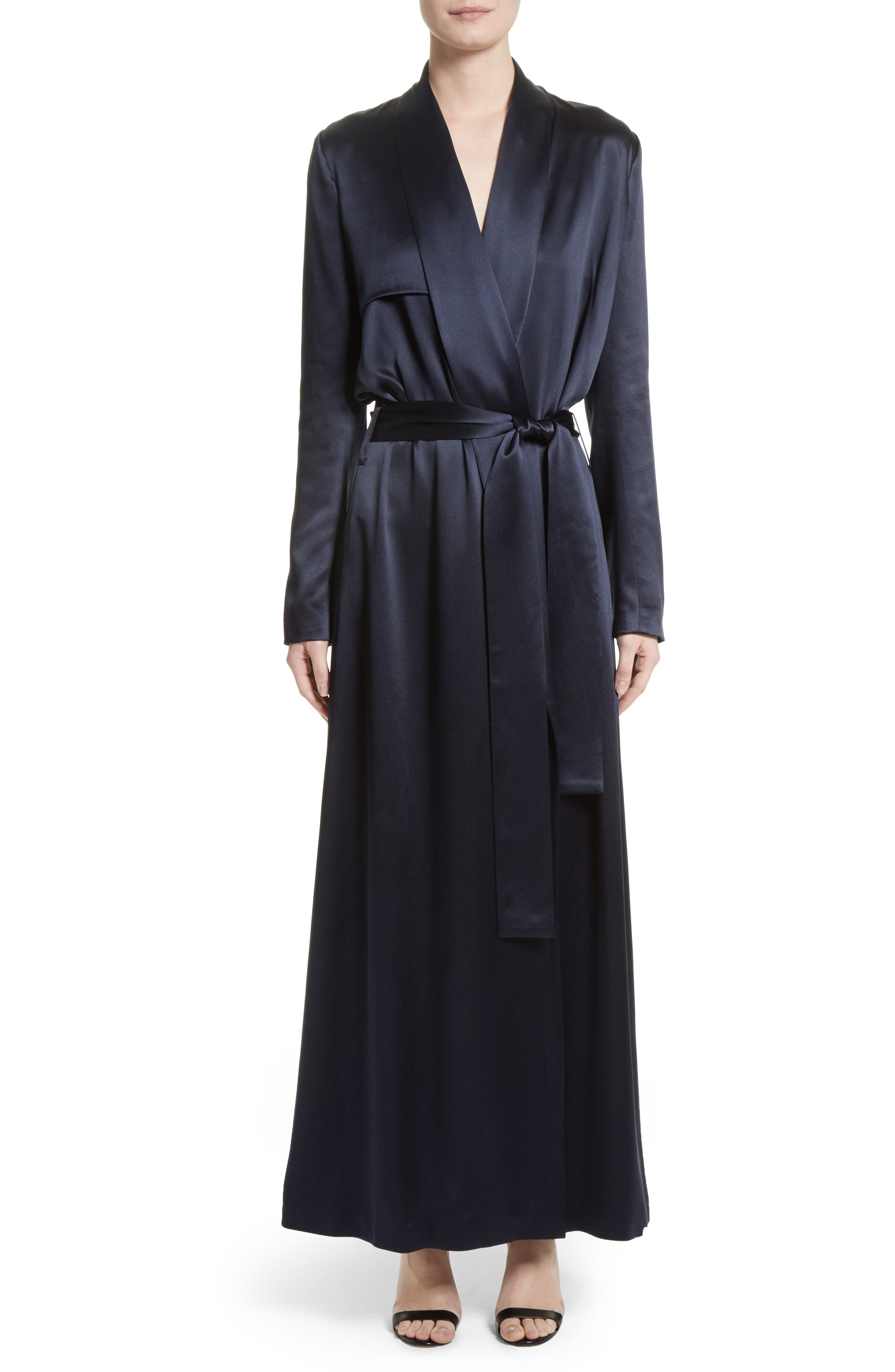 Silk Coat,                         Main,                         color, Midnight